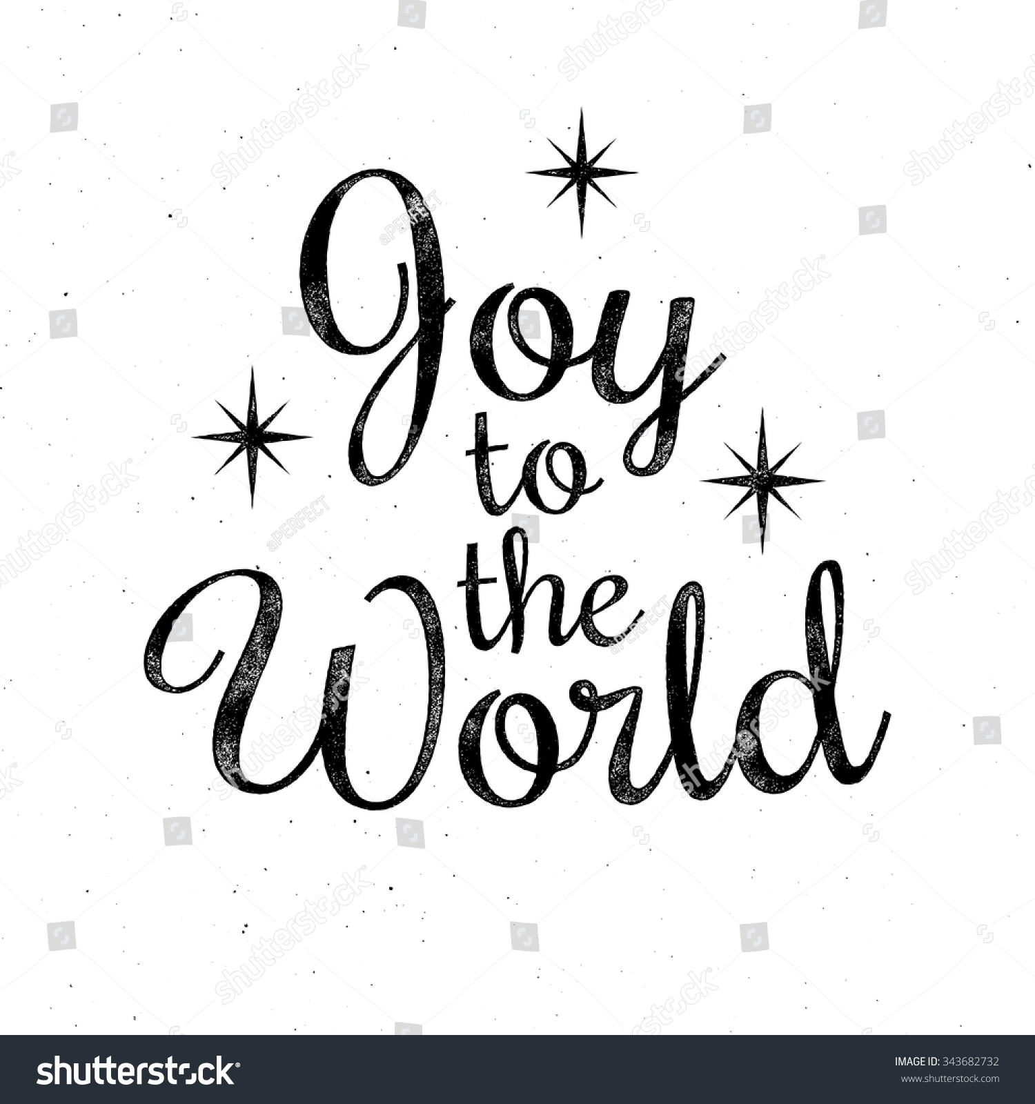 Line Art Joy : Joy to the world christmas retro lettering greeting