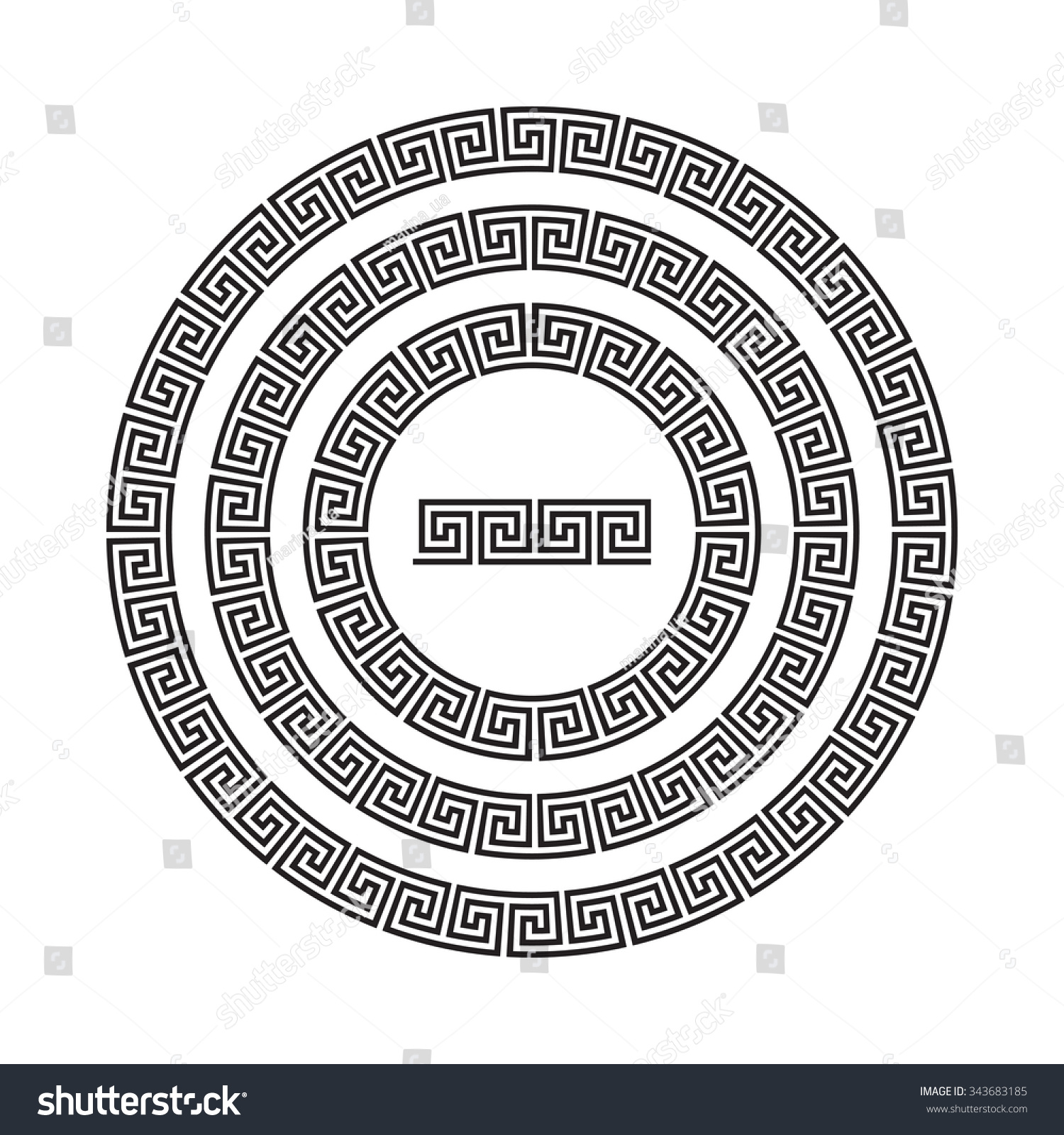 Circle ornament meander round frame rosette stock vector 343683185 circle ornament meander round frame rosette of ancient elements greek national antique round biocorpaavc Image collections