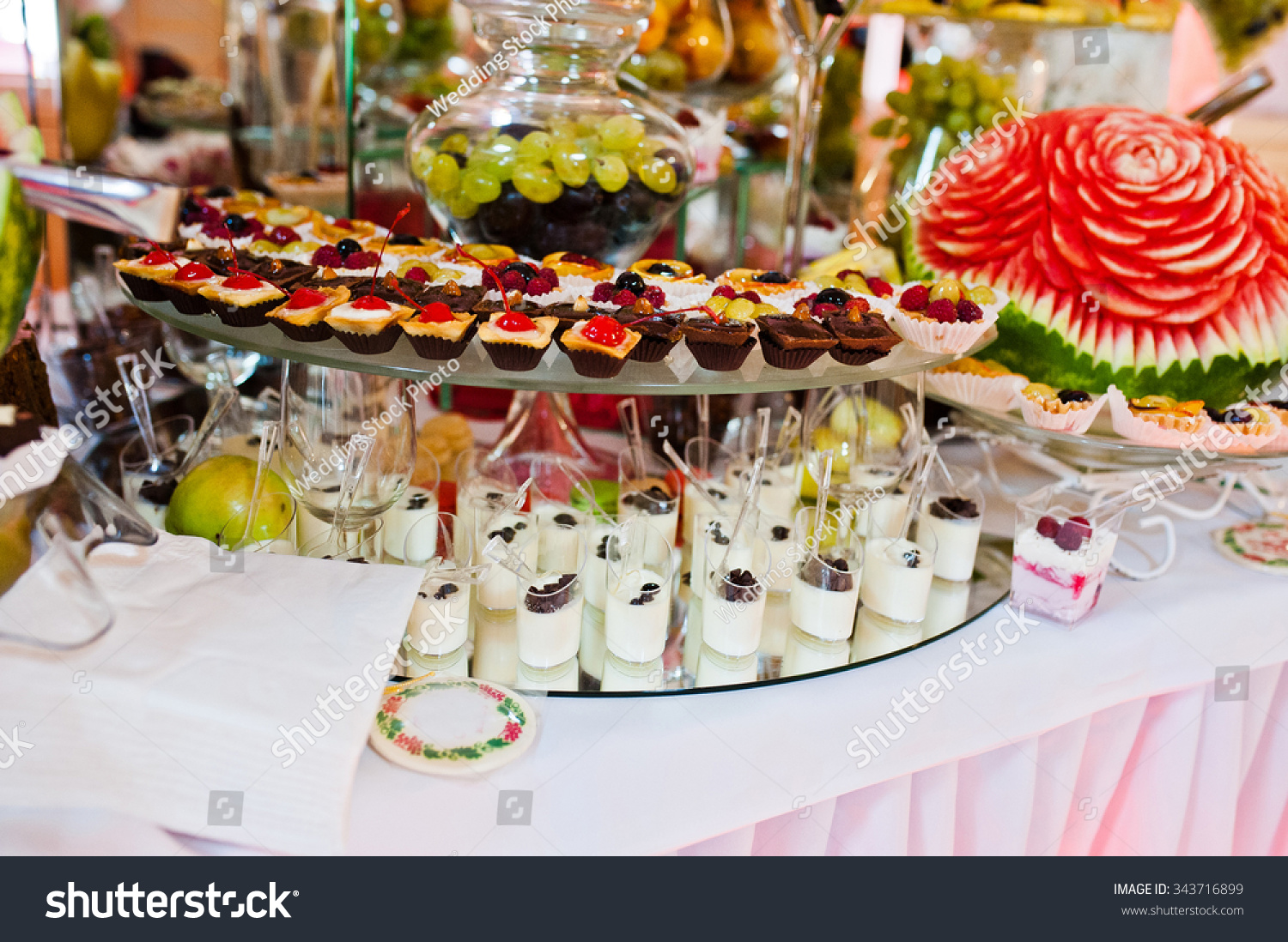 Wedding Reception Table Fruits Sweets Stock Photo Edit Now