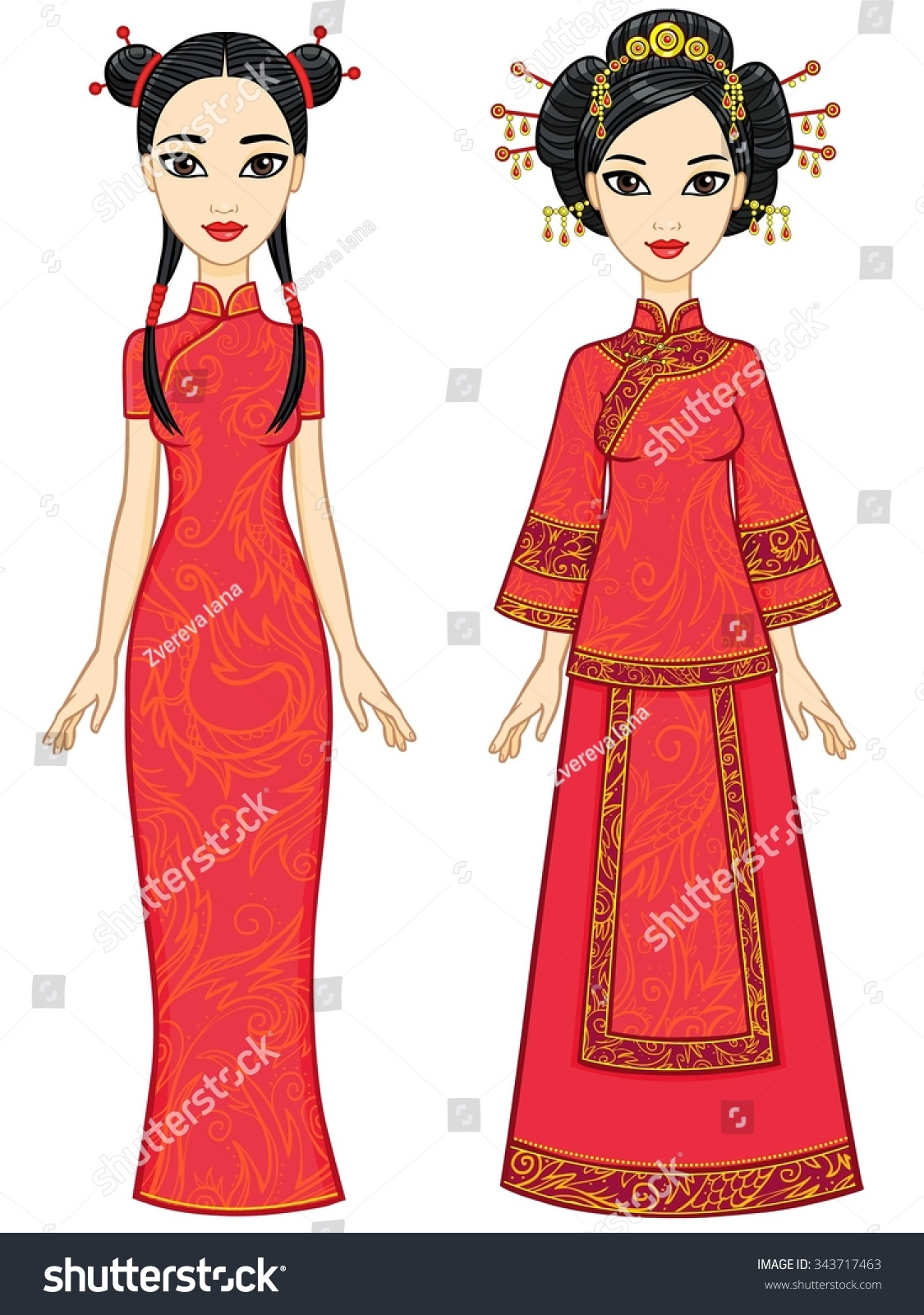 ... Clothing Drawing chinese tradition stock vectors & vector clip art