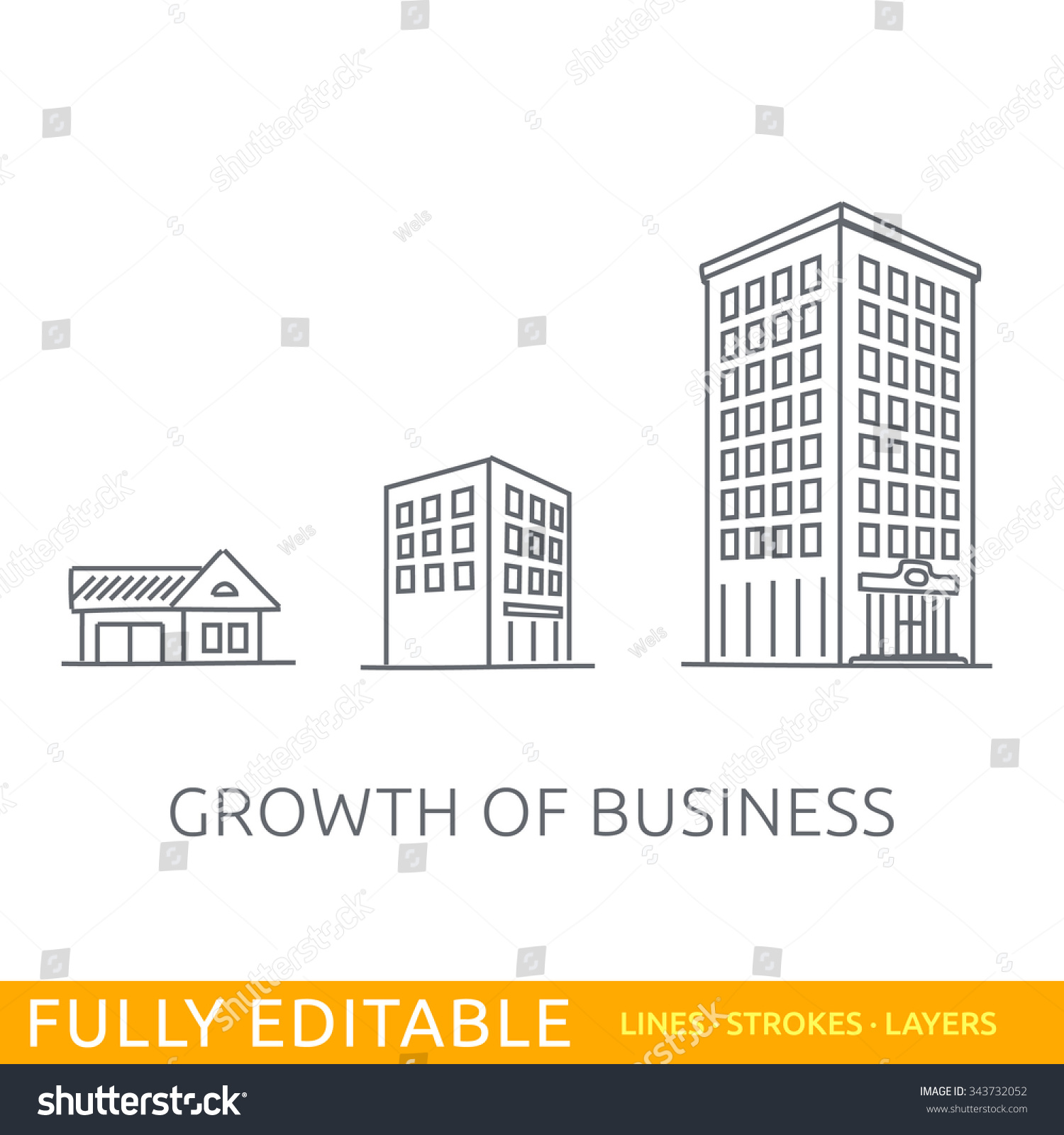 Growth business buildings company small middle for Architectural design drawing company