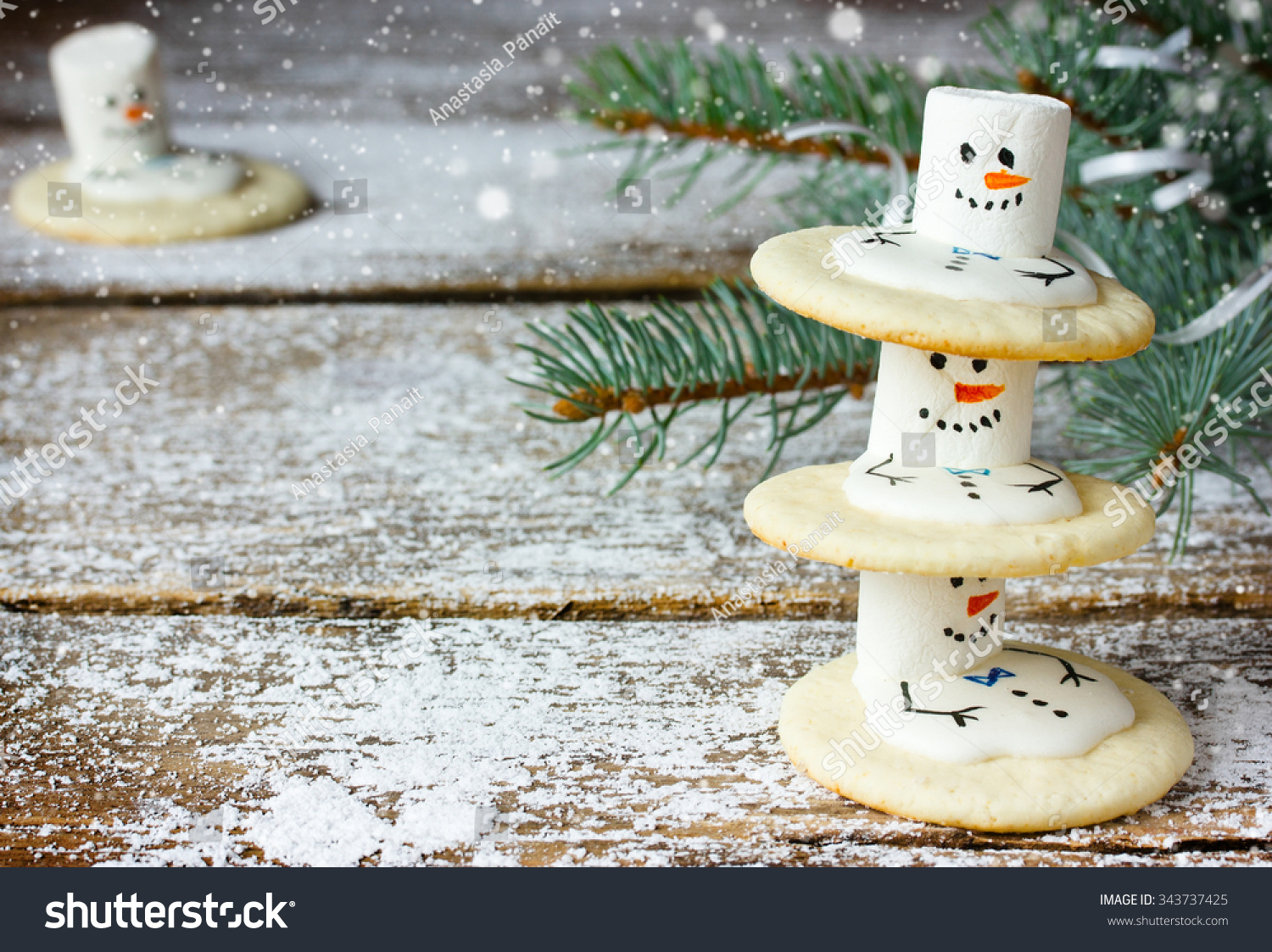 Cute Christmas Cookies Snowman Winter Holidays Stock Photo Edit Now