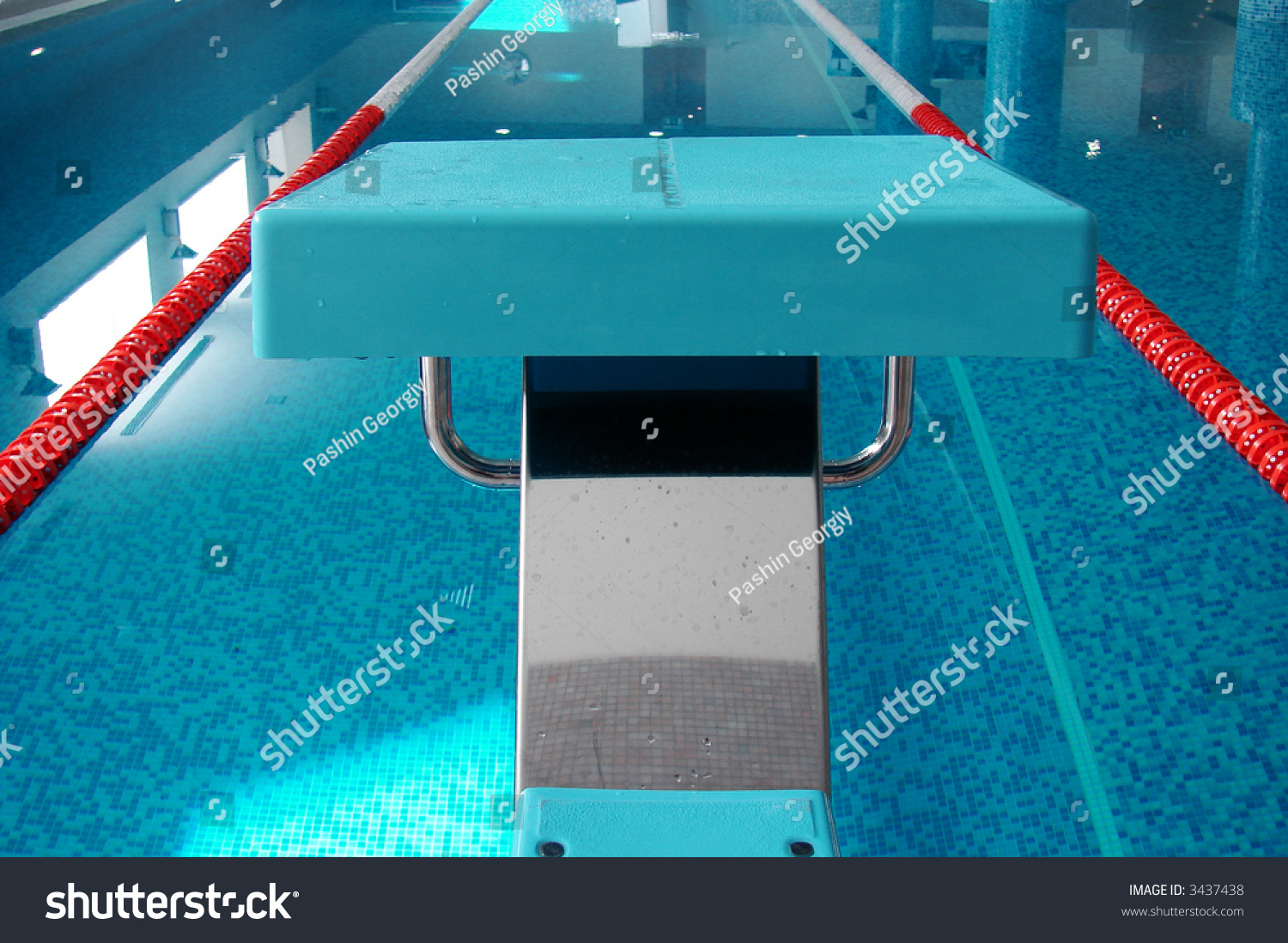 Swimming Pool Of 25 Meters Start Place Road Stock Photo 3437438 Shutterstock