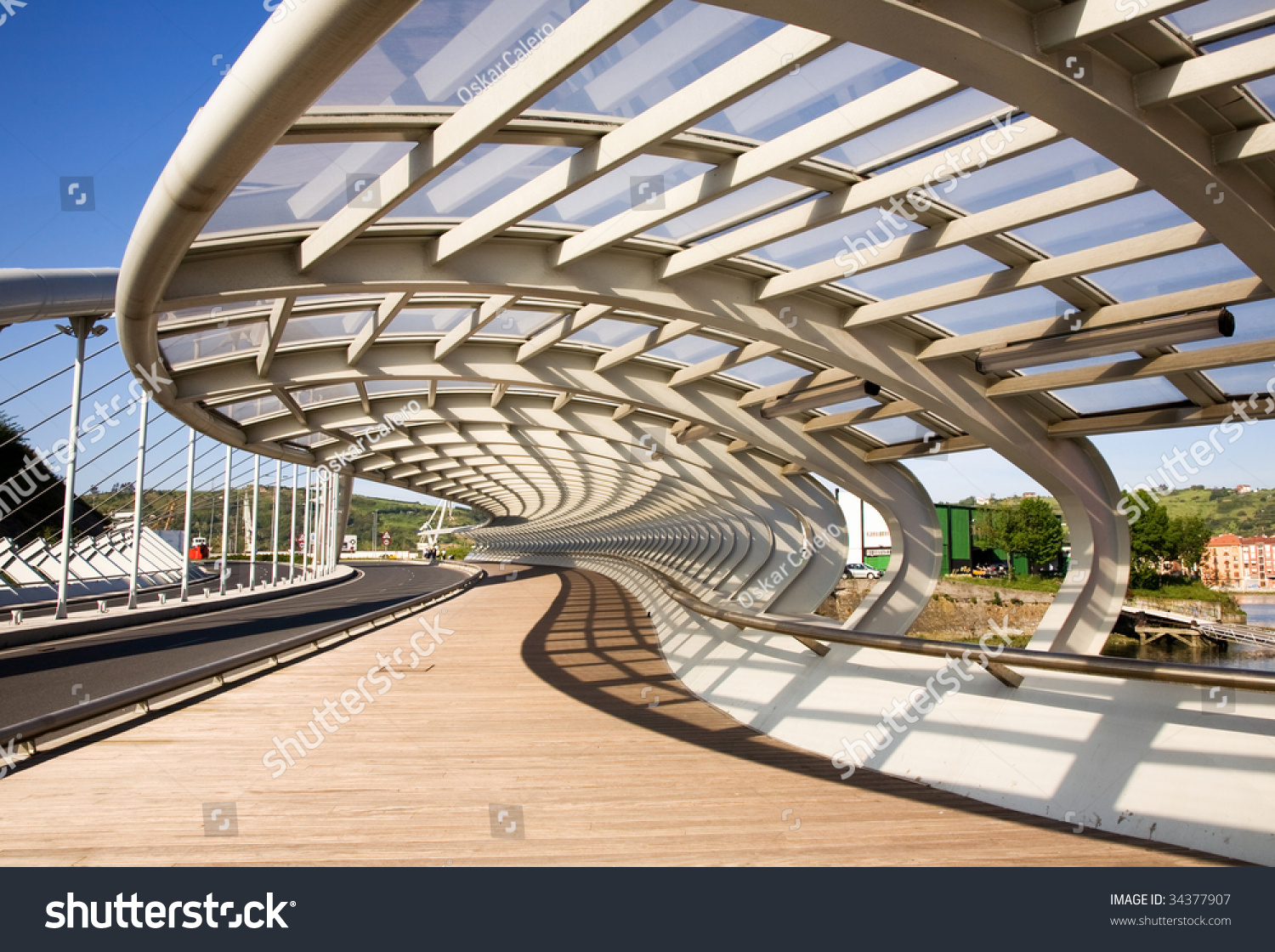 A modern bridge structure stock photo 34377907 shutterstock for Structure photography