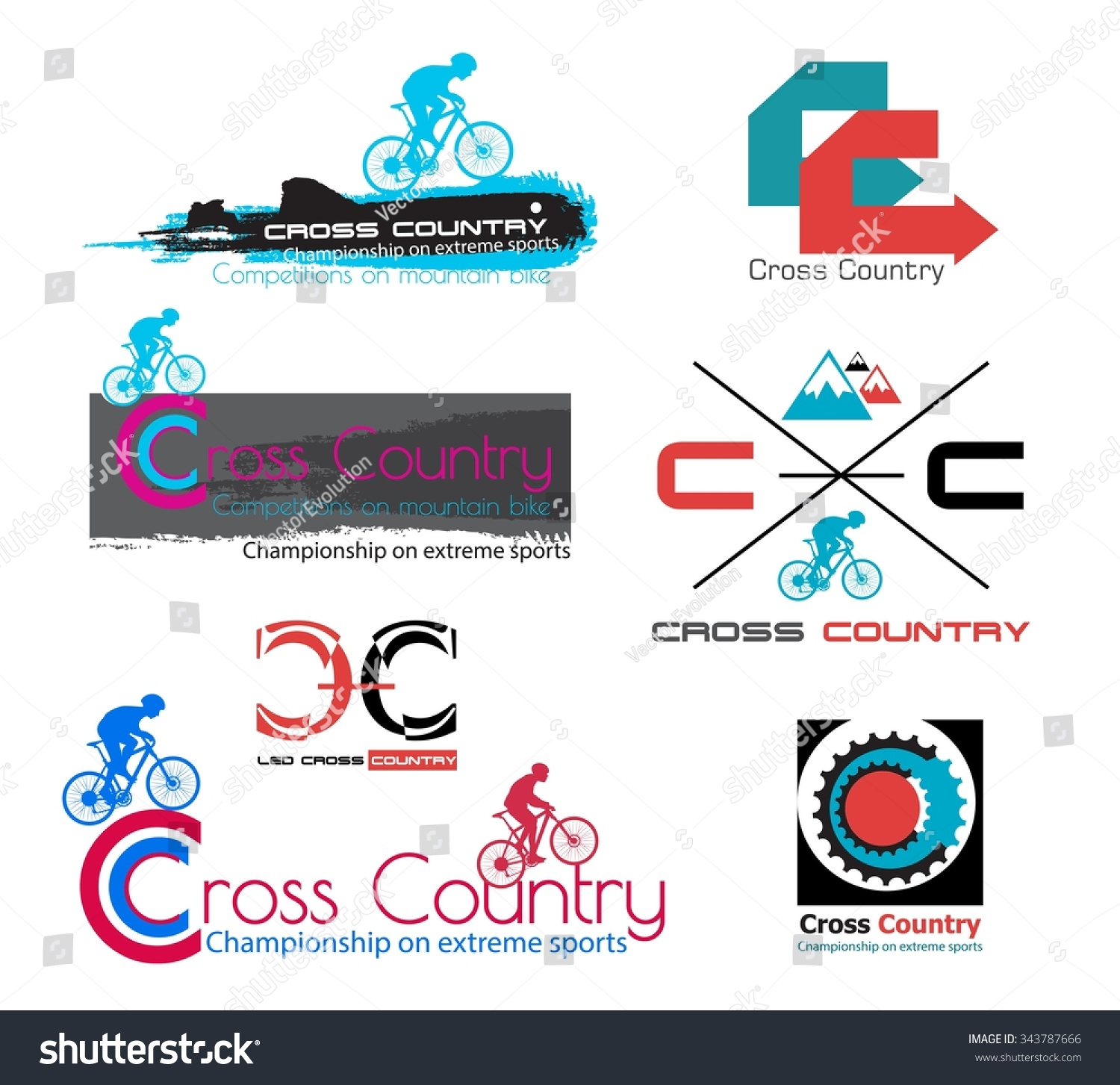 Cross country logo designs