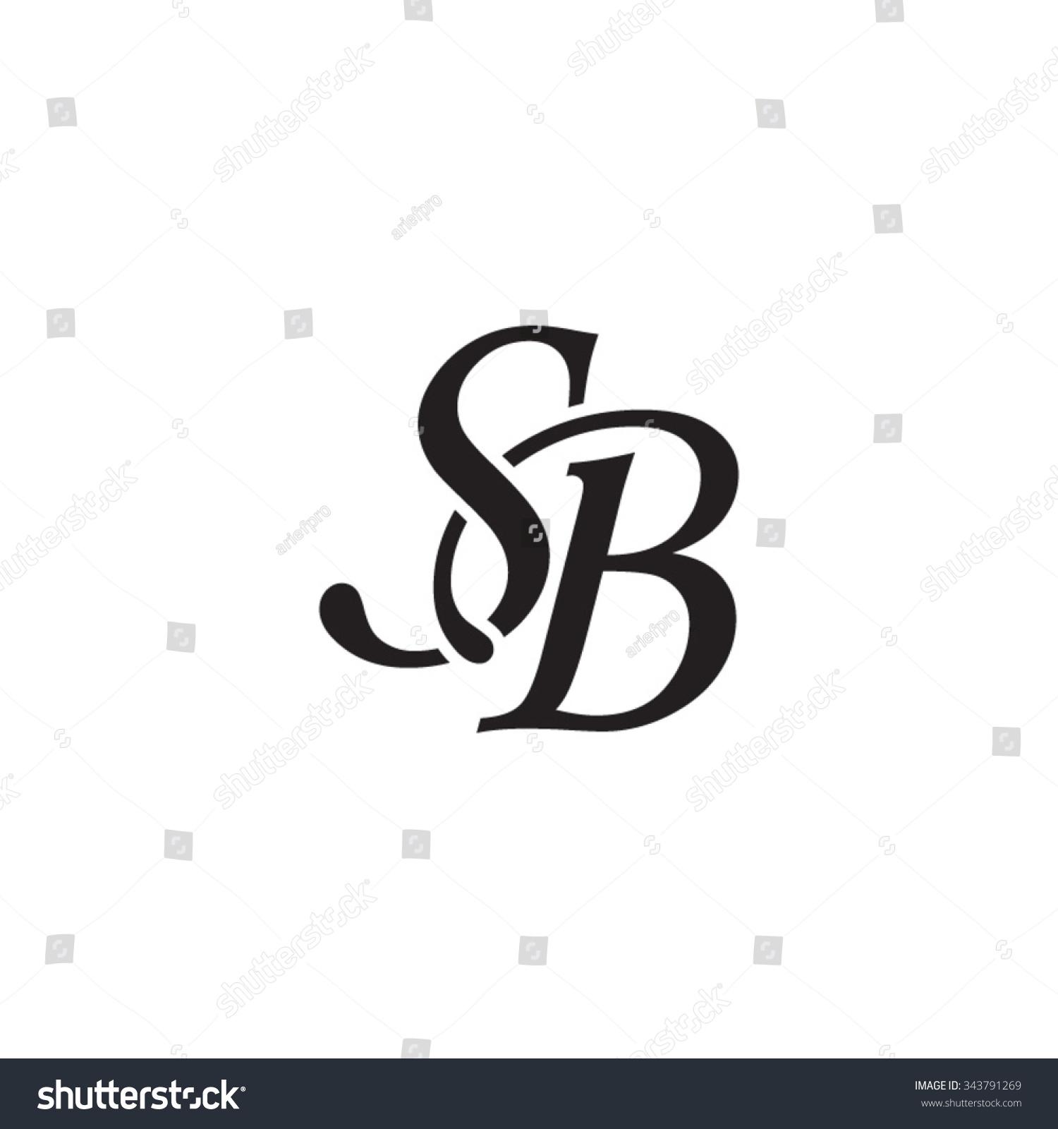 Sb Initial Monogram Logo Stock Vector 343791269 - Shutterstock