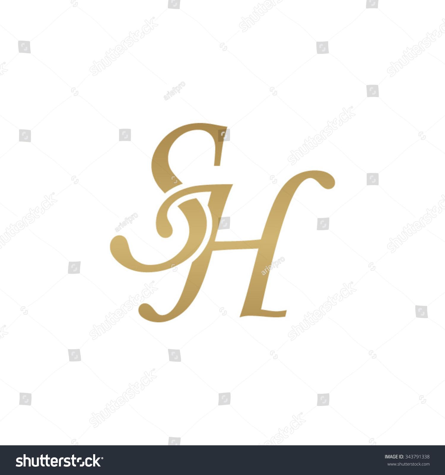 Sh Initial Monogram Logo Stock Vector 343791338 Shutterstock