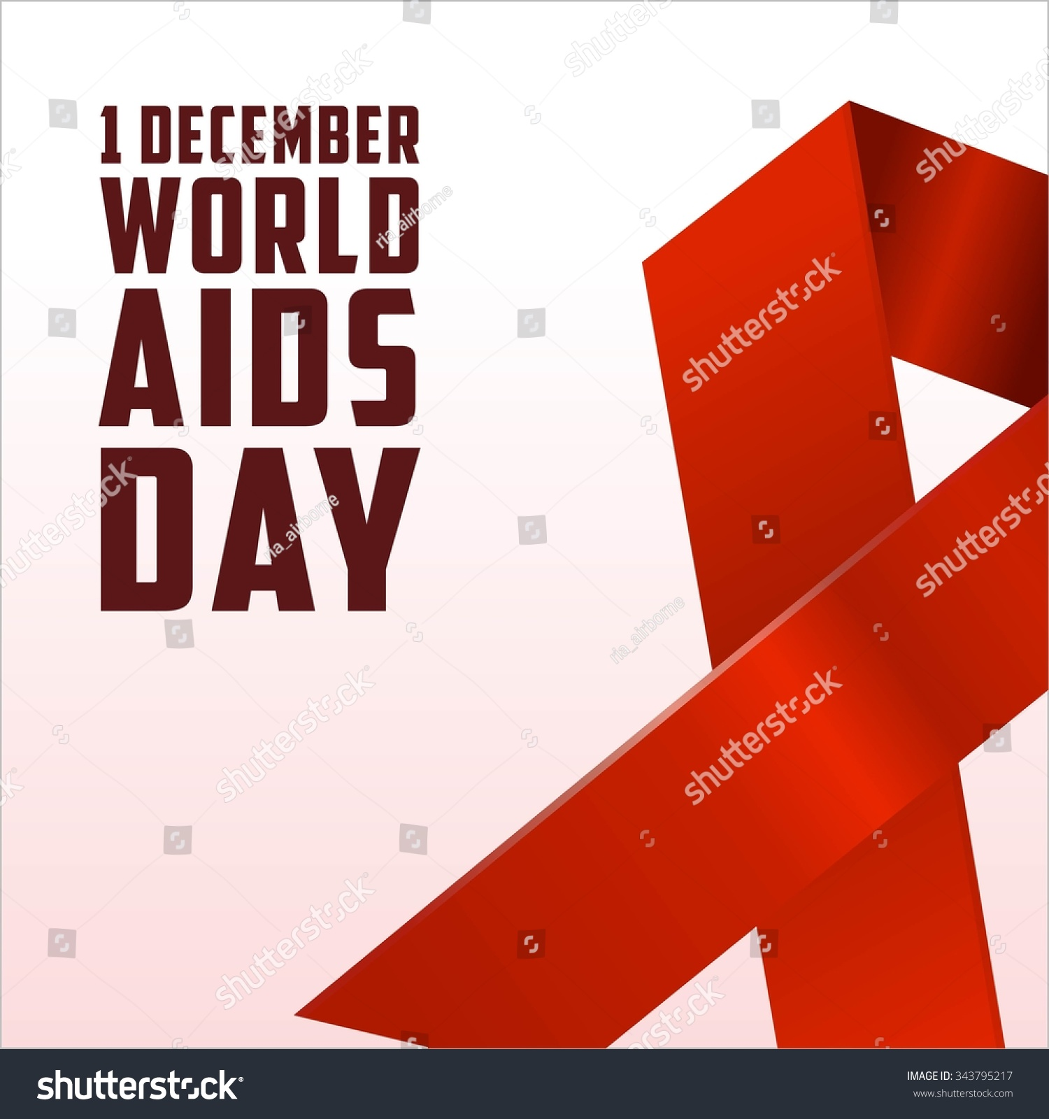 Inspirational Message Of The Day World Aids Day Poster Quotes Inspirational Stock Vector 343795217
