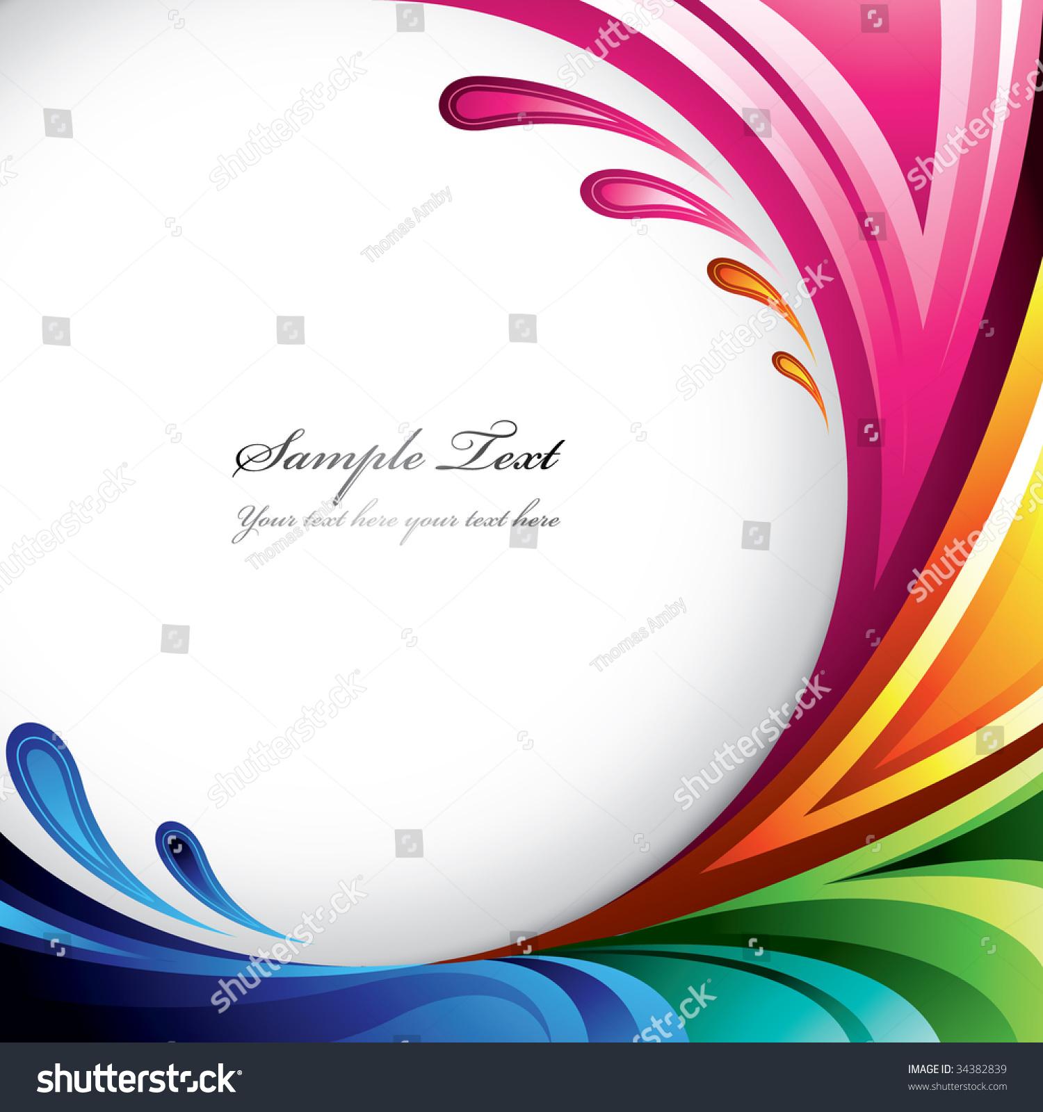 A splash of various colors background design for your for Design finder