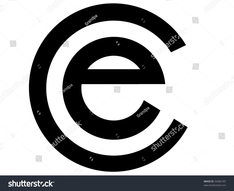 Simple Ecommerce Symbol Letter E Inside Stock Illustration 34383187