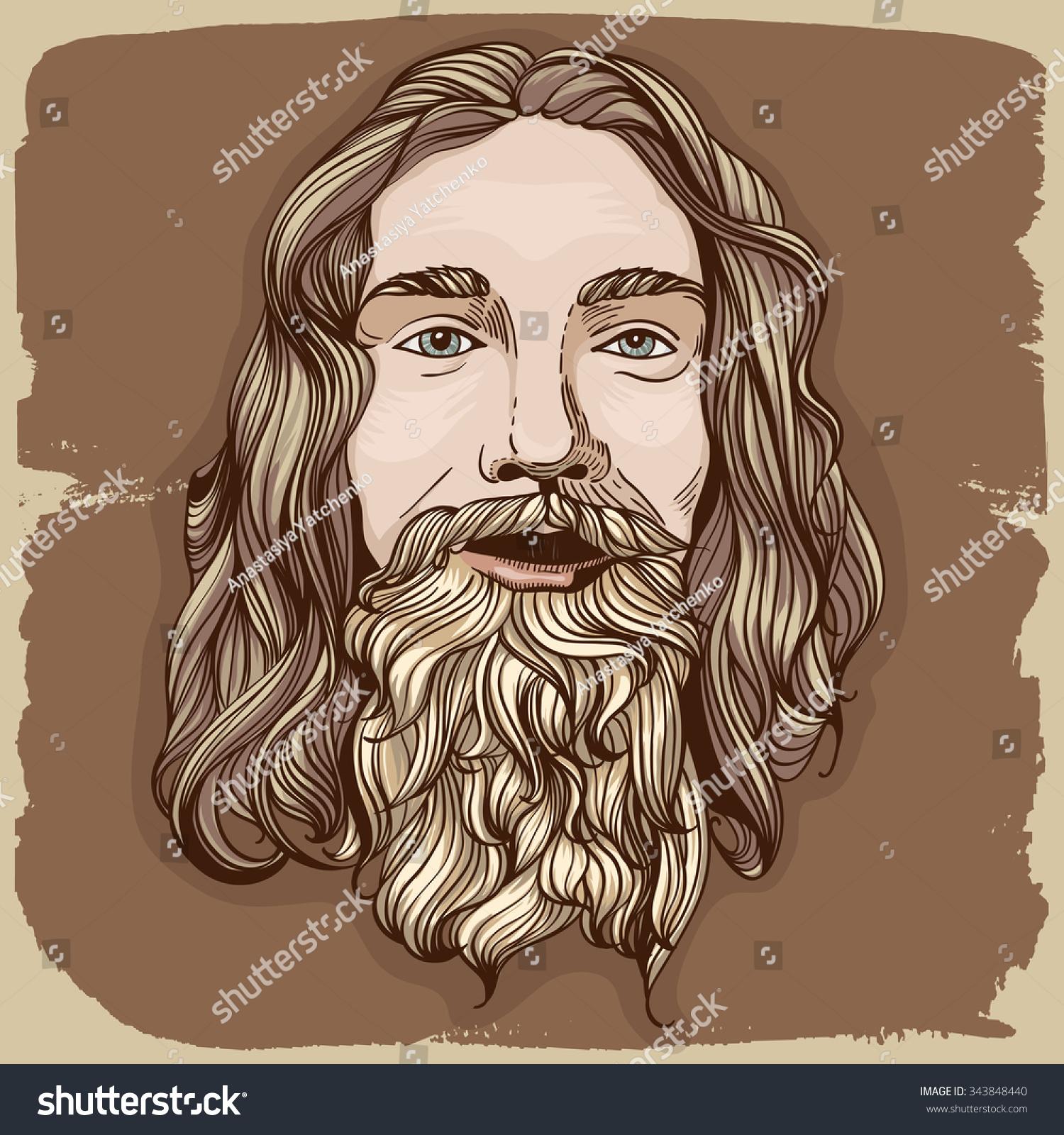 Bearded Man Illustrati...