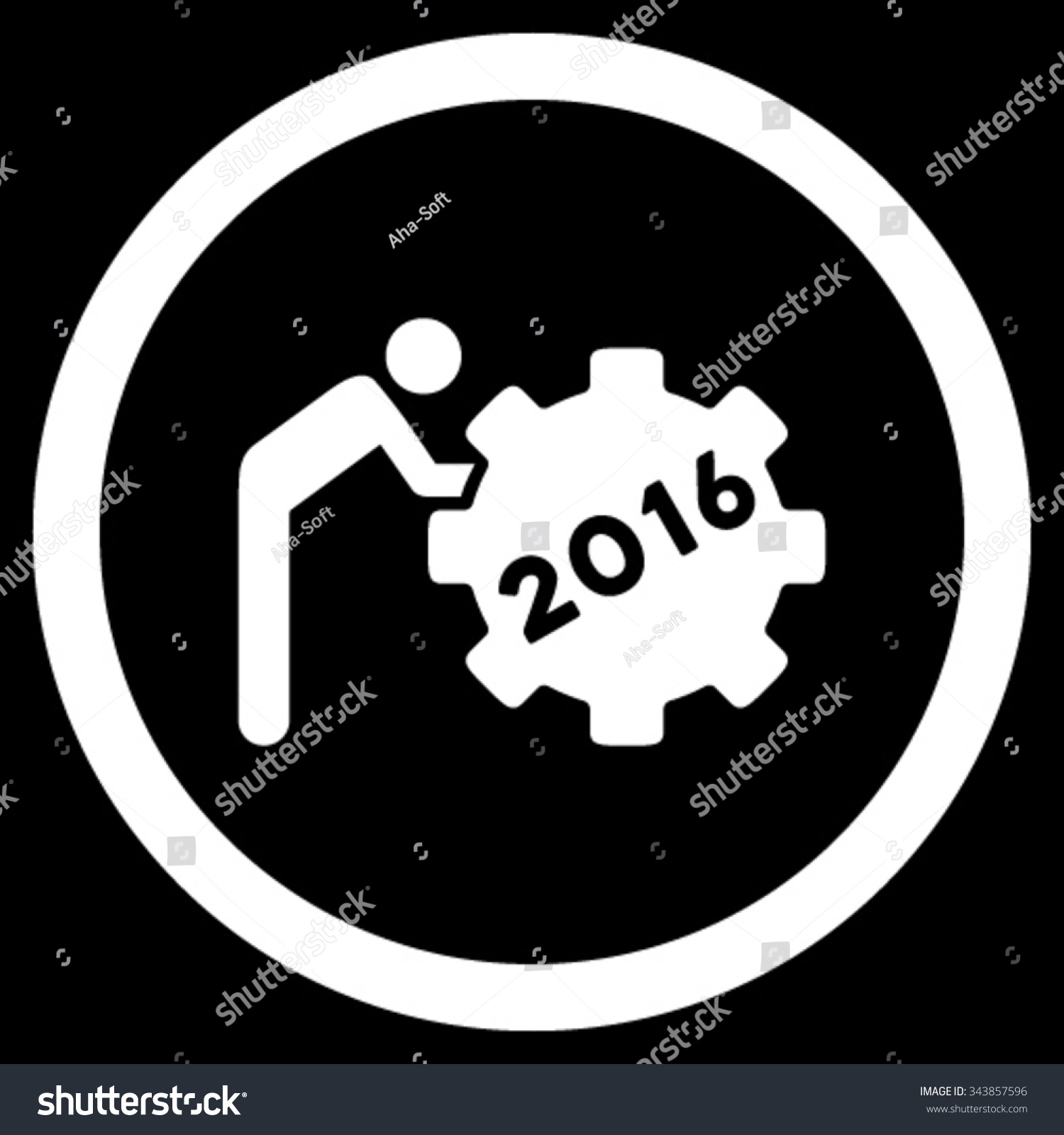 2016 working man vector icon style stock vector 343857596 2016 working man vector icon style is flat circled symbol white color rounded biocorpaavc Images