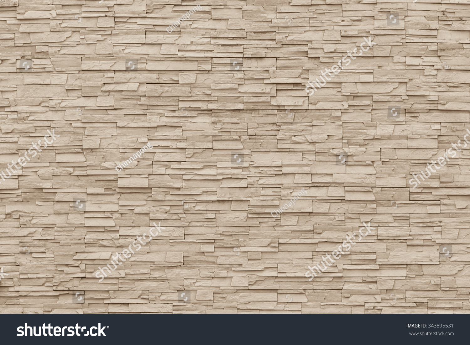 Rock Stone Brick Tile Wall Aged Texture Detailed Pattern Background In