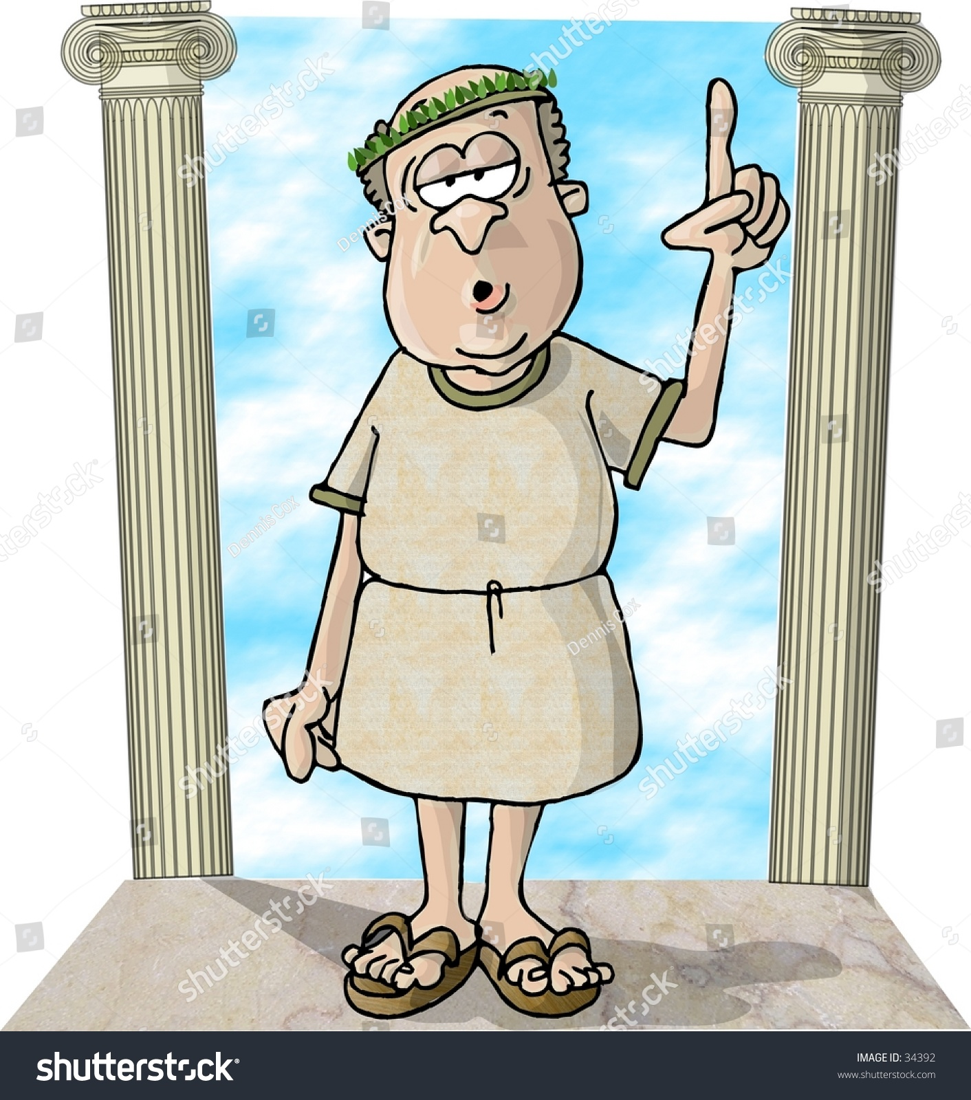 Clipart Illustration Roman Guy Between 2 Stockillustration ...