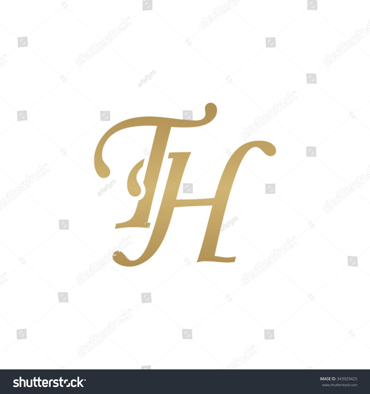 Tj initial luxury ornament monogram logo stock vector - Th Initial Monogram Logo