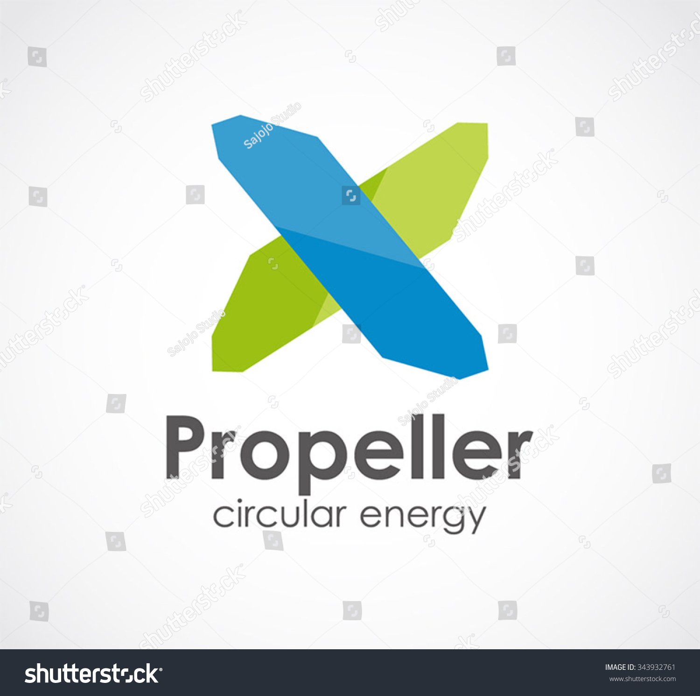 Propeller Ribbon Windmill Abstract Vector Logo Stock Vector Royalty Free 343932761