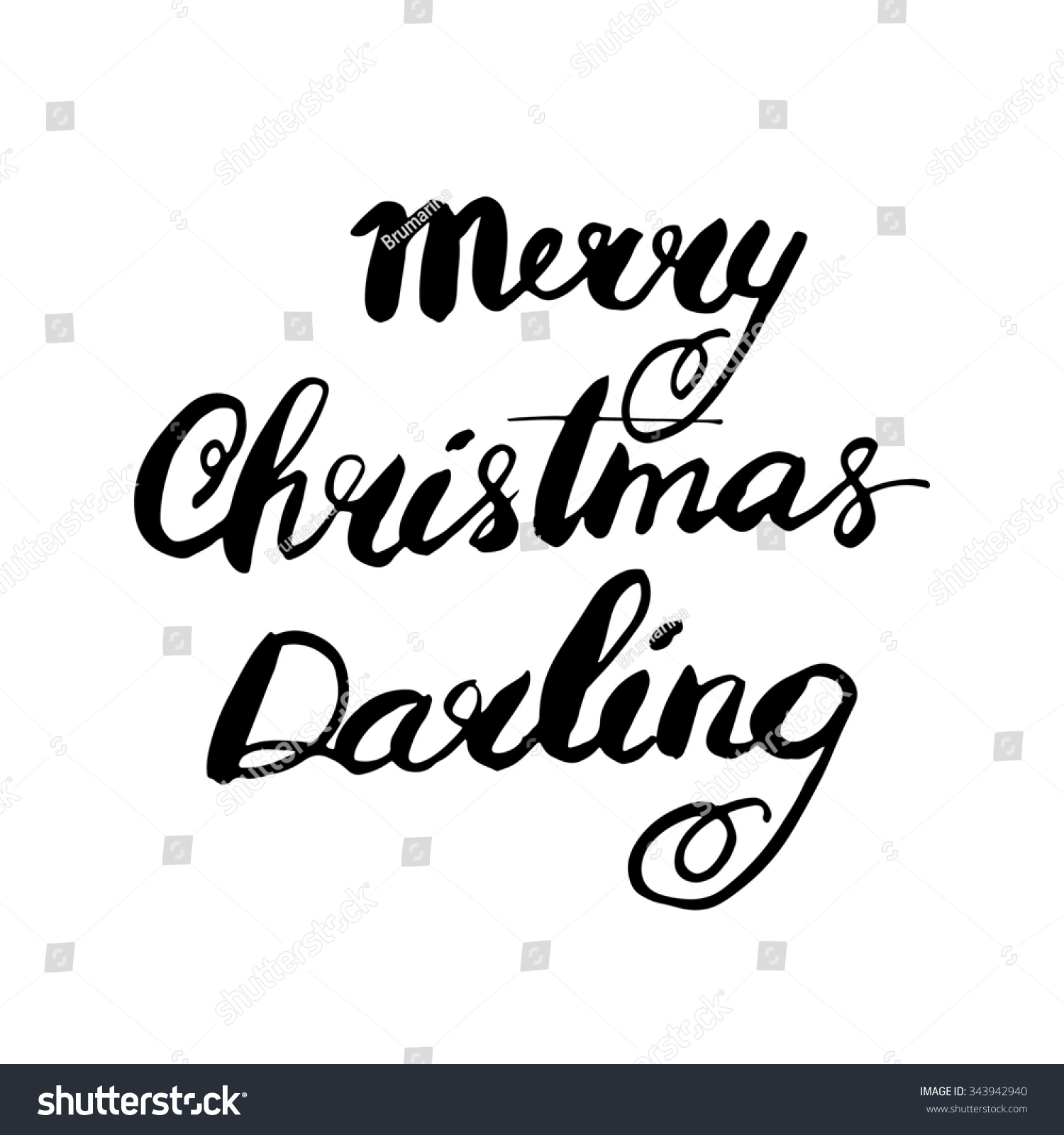 Merry Christmas Darling.Merry Christmas Darling Hand Lettered Calligraphic Stock