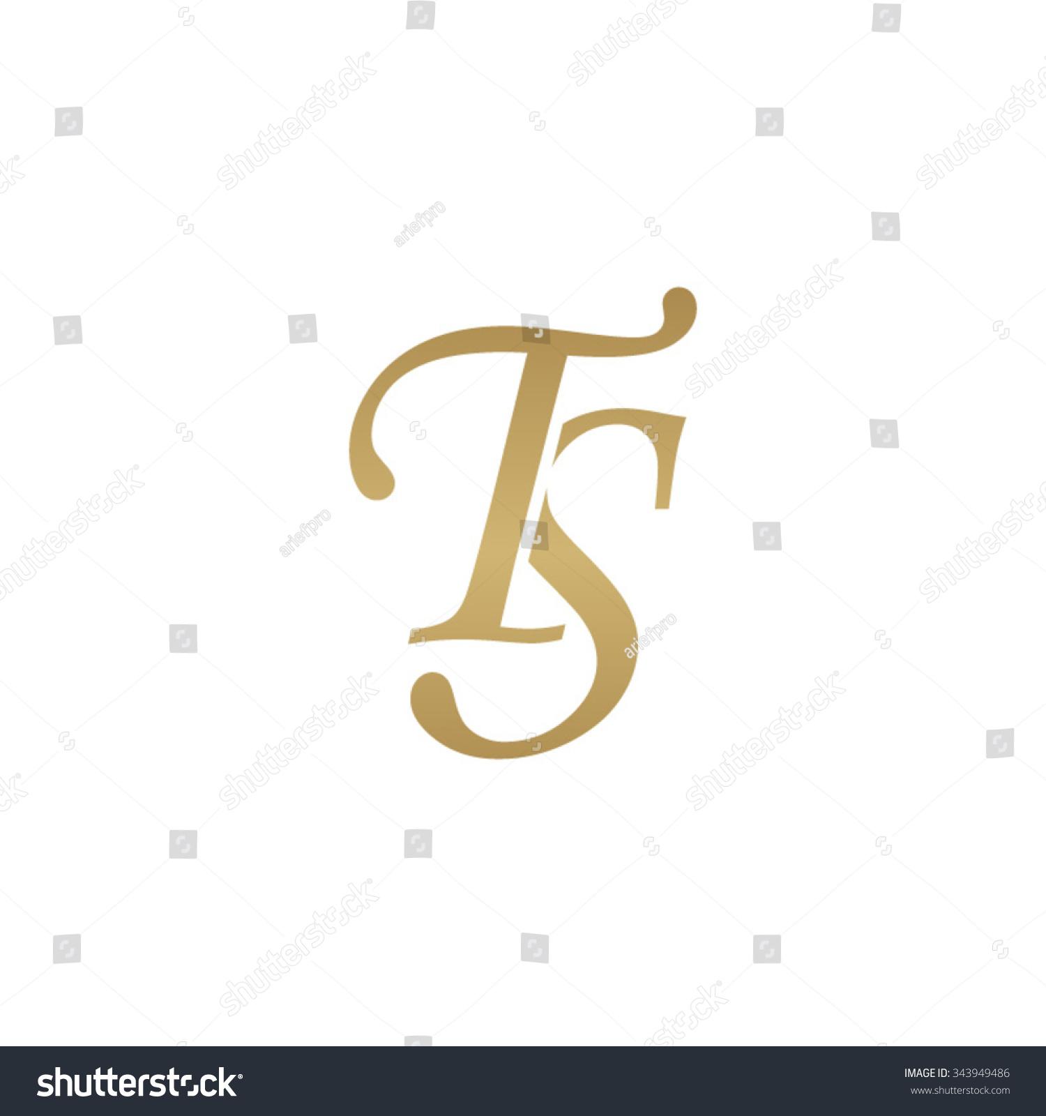 Tj initial luxury ornament monogram logo stock vector - Ts Initial Monogram Logo Illustration Vectorielle Libre De Droits 343949486 Shutterstock