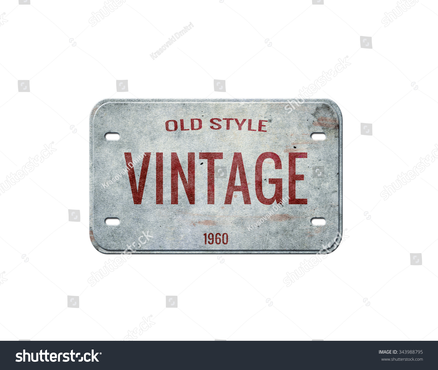 Old Plate Vintage Plate Isolated Stock Illustration 343988795 ...