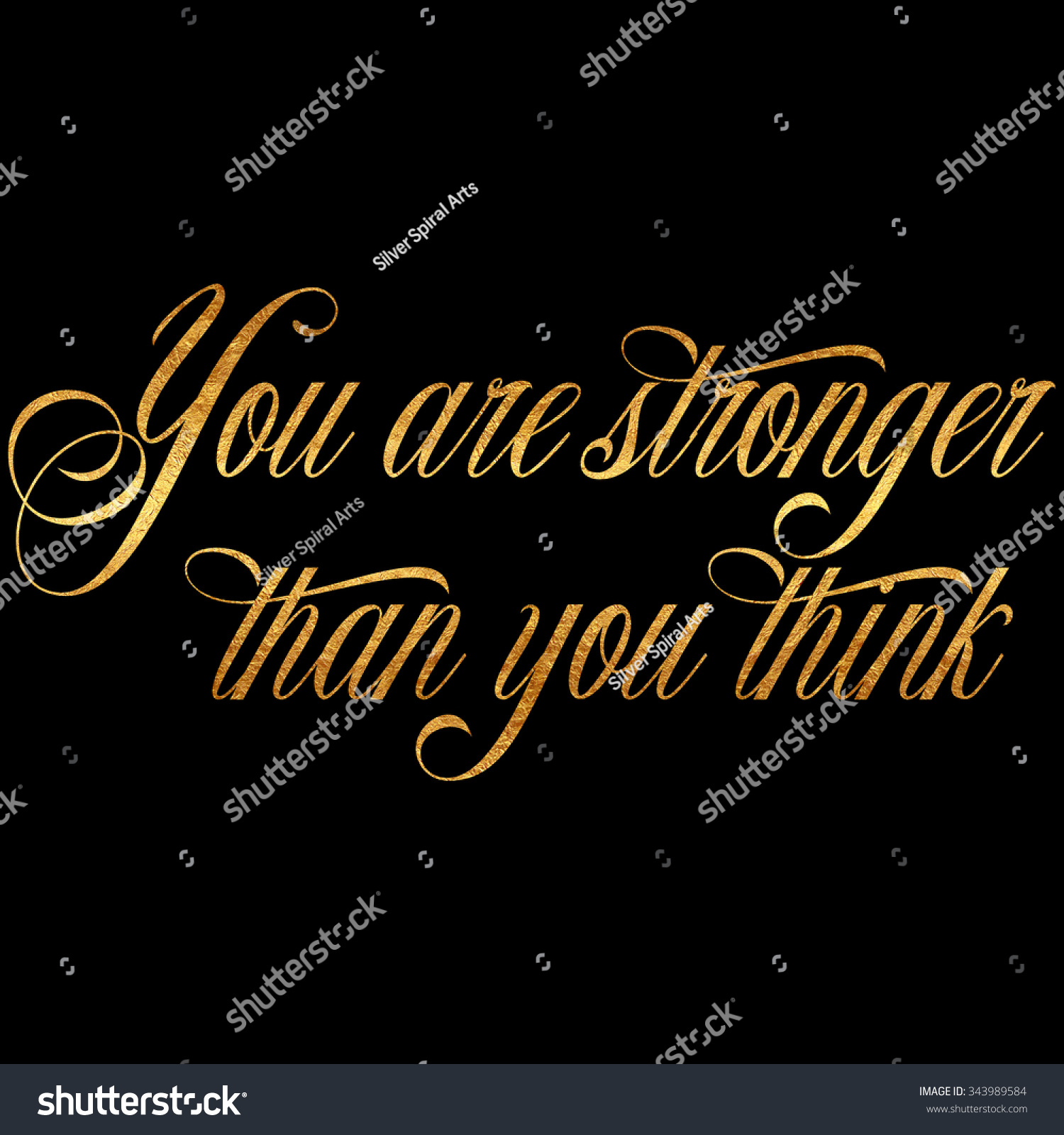 Royalty Free Stock Illustration Of Stronger Than You Think Quote