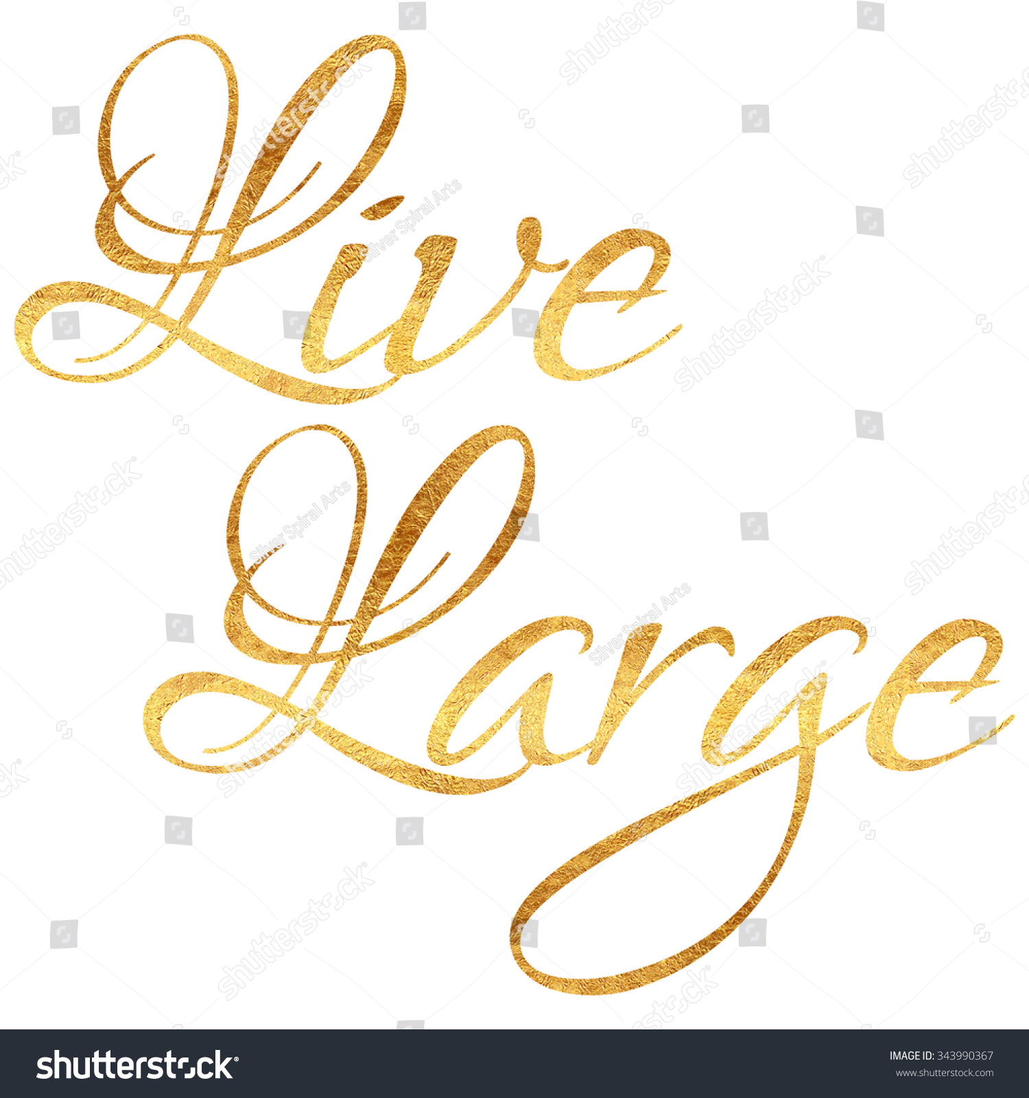 Live Gold Quotes Gorgeous Live Large Quote Gold Faux Foil Stock Illustration 343990367