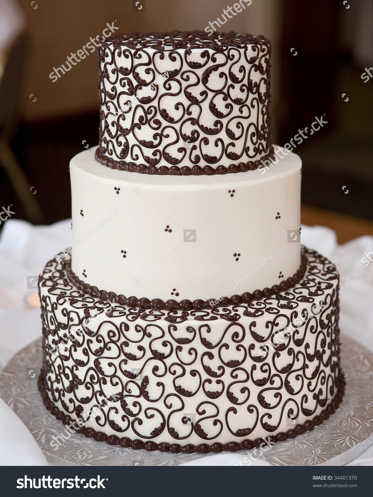 Scroll Design Cake Stock Photo 34401370 Shutterstock