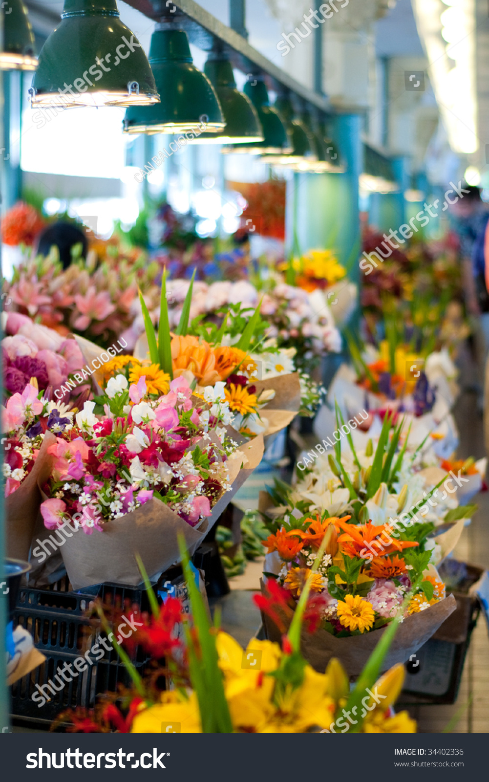 Colorful Flower Bouquets Sale Pike Place Stock Photo (Safe to Use ...