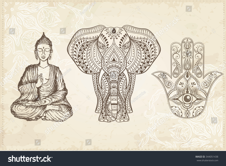 Buddhist Elephant Symbol Elephant Buddha Symbol Images Reverse