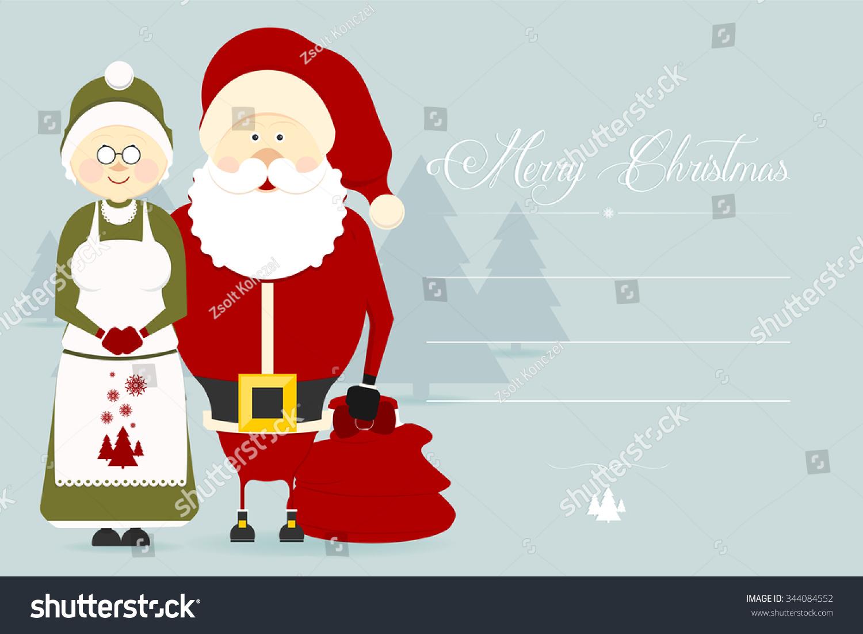 Cute christmas greeting card christmas characters stock vector cute christmas greeting card with christmas characters flat design style kristyandbryce Choice Image