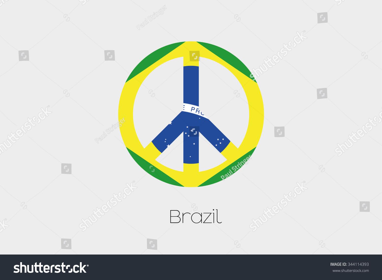Peace symbol flag brazil stock illustration 344114393 shutterstock a peace symbol with the flag of brazil biocorpaavc