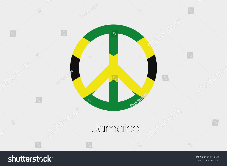 Peace symbol flag jamaica stock illustration 344115131 shutterstock a peace symbol with the flag of jamaica biocorpaavc