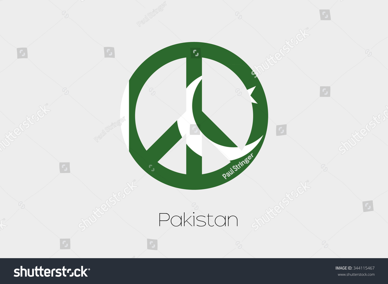 Peace symbol flag pakistan stock illustration 344115467 shutterstock a peace symbol with the flag of pakistan biocorpaavc