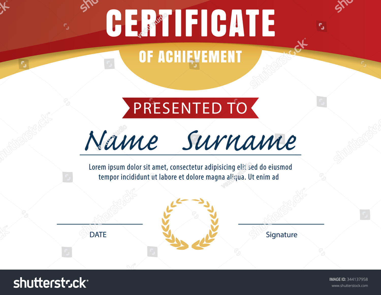 Royalty free certificate template diploma layout 344137958 certificate template diploma layout a4 size vector 344137958 xflitez Gallery
