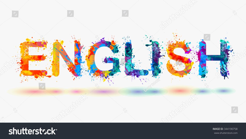 Word English Language Courses Stock Vector 344190758 ...