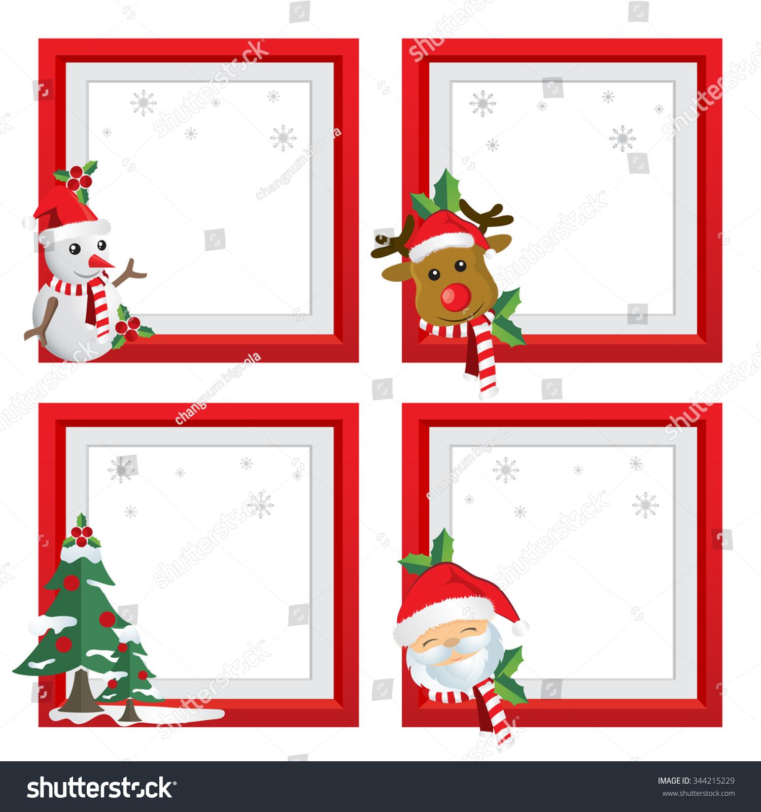 Set of Christmas frames,vector christmas border, christmas frame ...