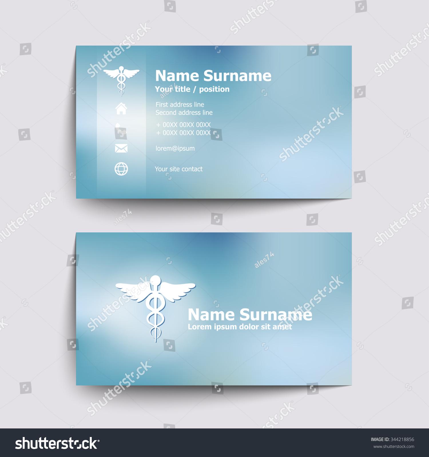 Modern simple business card set doctor stock vector 344218856 modern simple business card set for doctor of medicine vector illustration magicingreecefo Images