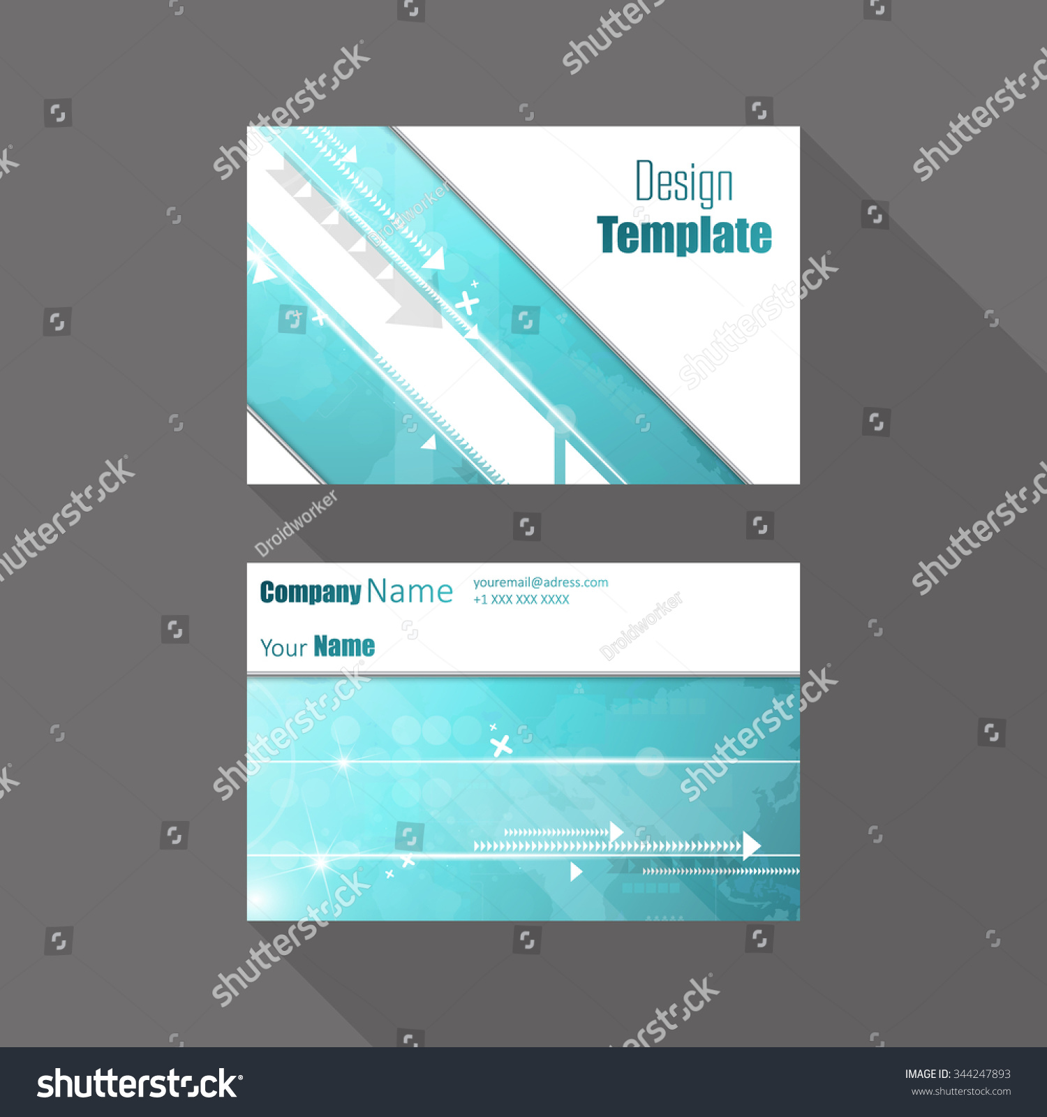 Technology Business Card Vector Stock Vector 344247893 - Shutterstock