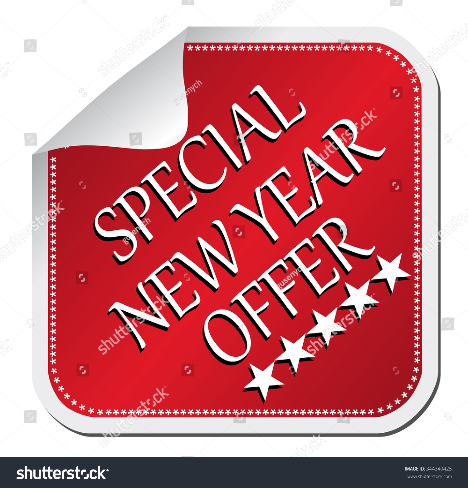 Sticker Special New Year Edition Stock Vector Illustration ...