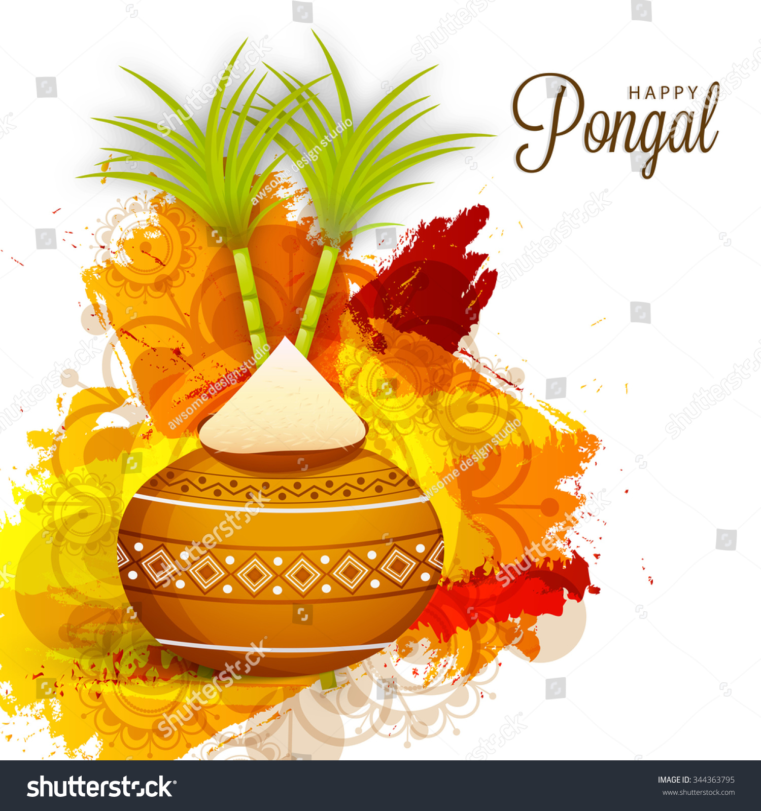 Vector illustration happy pongal greeting card stock vector 2018 vector illustration of happy pongal greeting card m4hsunfo