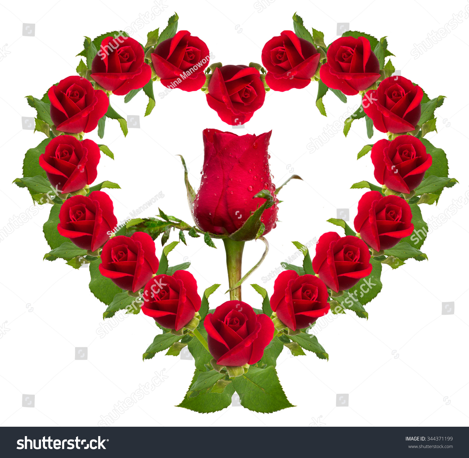 Royalty-free Red rose flower bouquet heart shape… #344371199 Stock ...