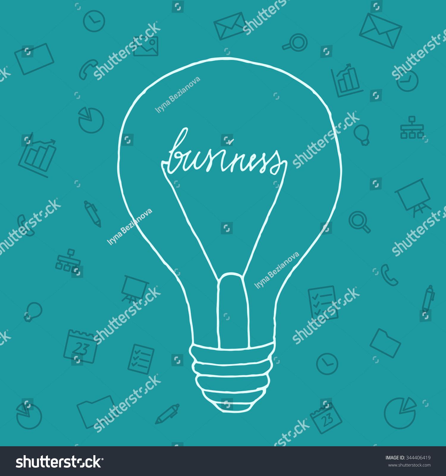 Slide Presentation Ideas Brain Form Light Stock Vector (Royalty Free ...