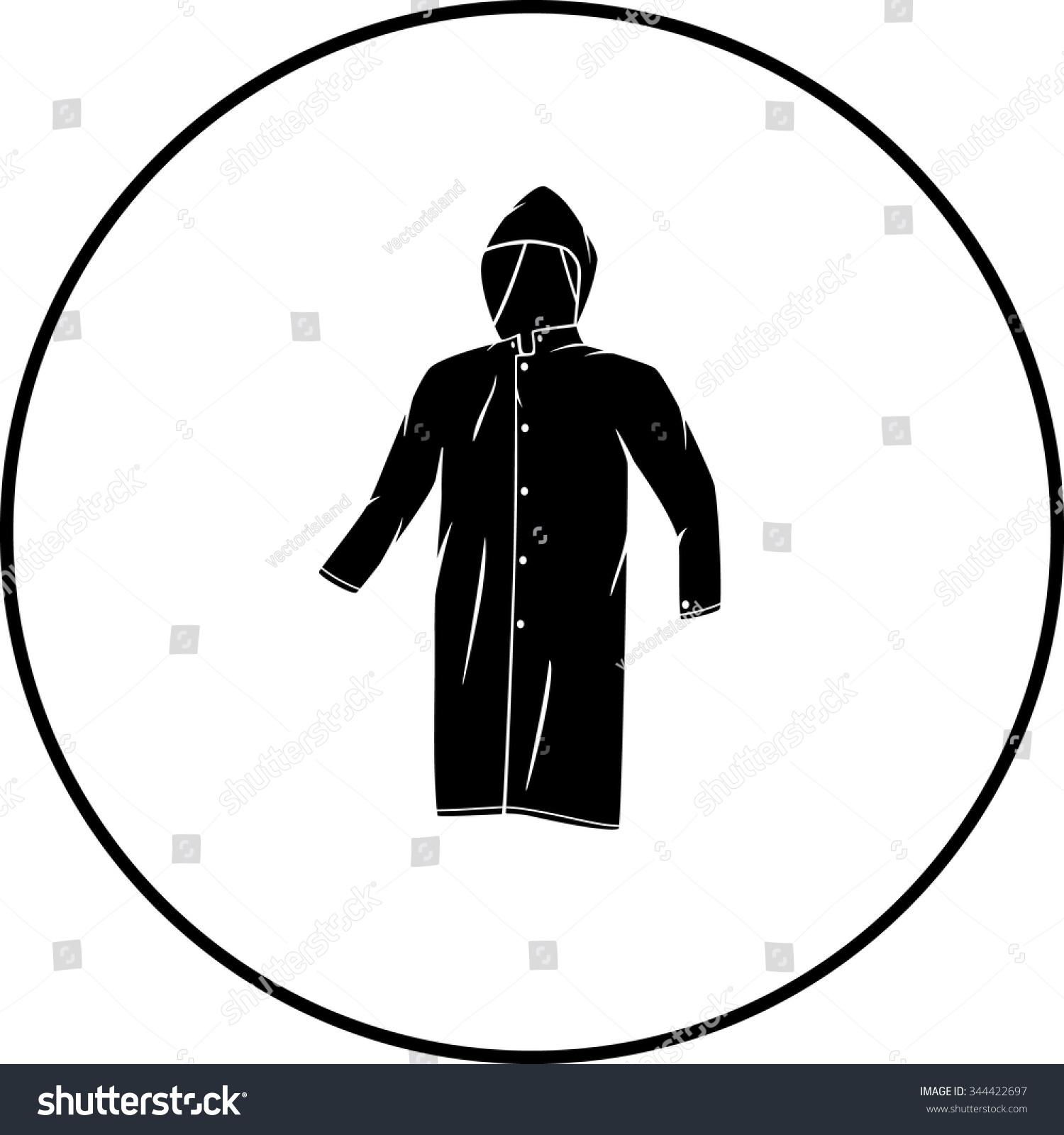 Raincoat Symbol Stock Vector Royalty Free 344422697 Shutterstock