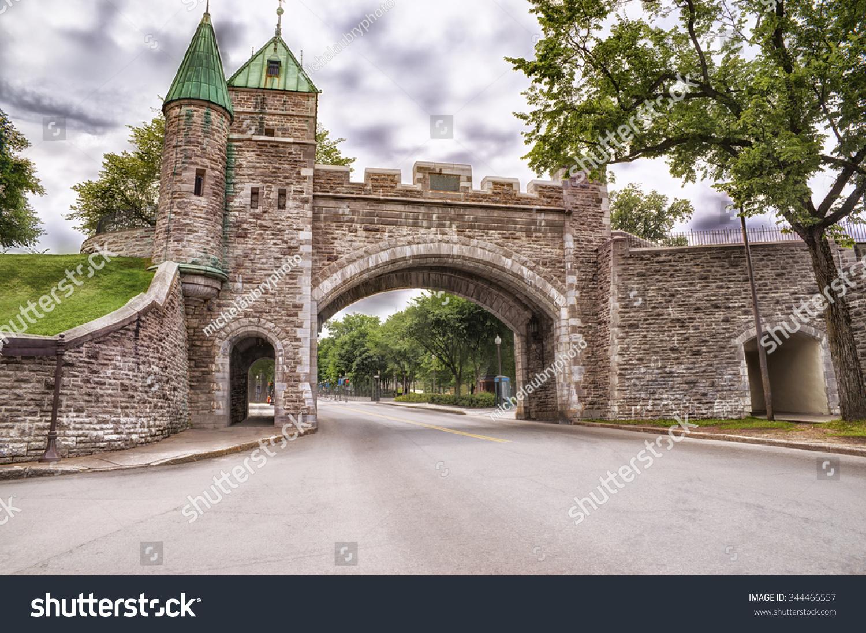 Porte dauphine quebec city stock photo 344466557 for Porte quebec