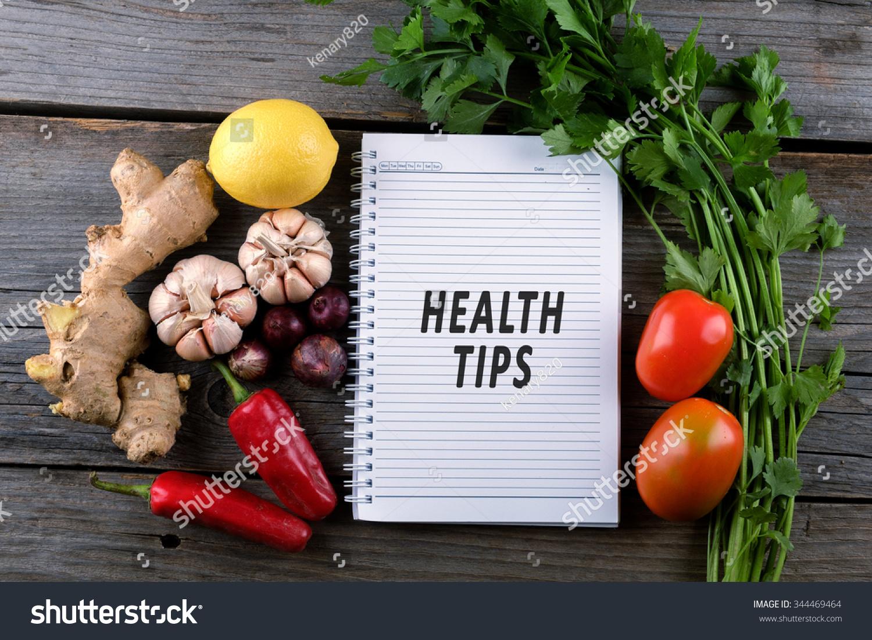 Health Tips Health Conceptual Stok Fotoğrafı 344469464 ...