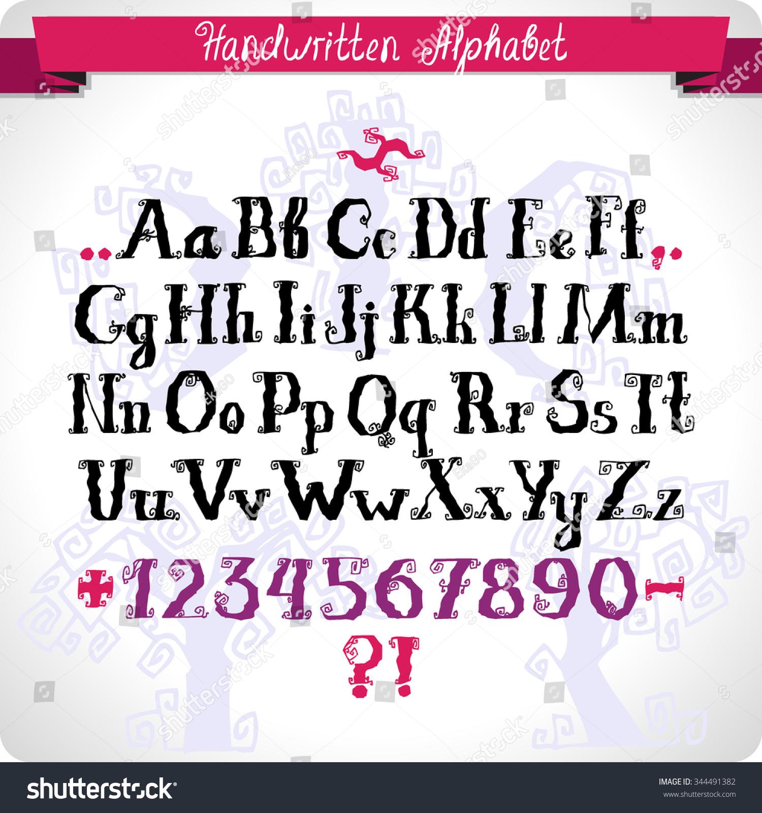 Abc Concept Typography Design Alphabet Vector Stock Vector Royalty