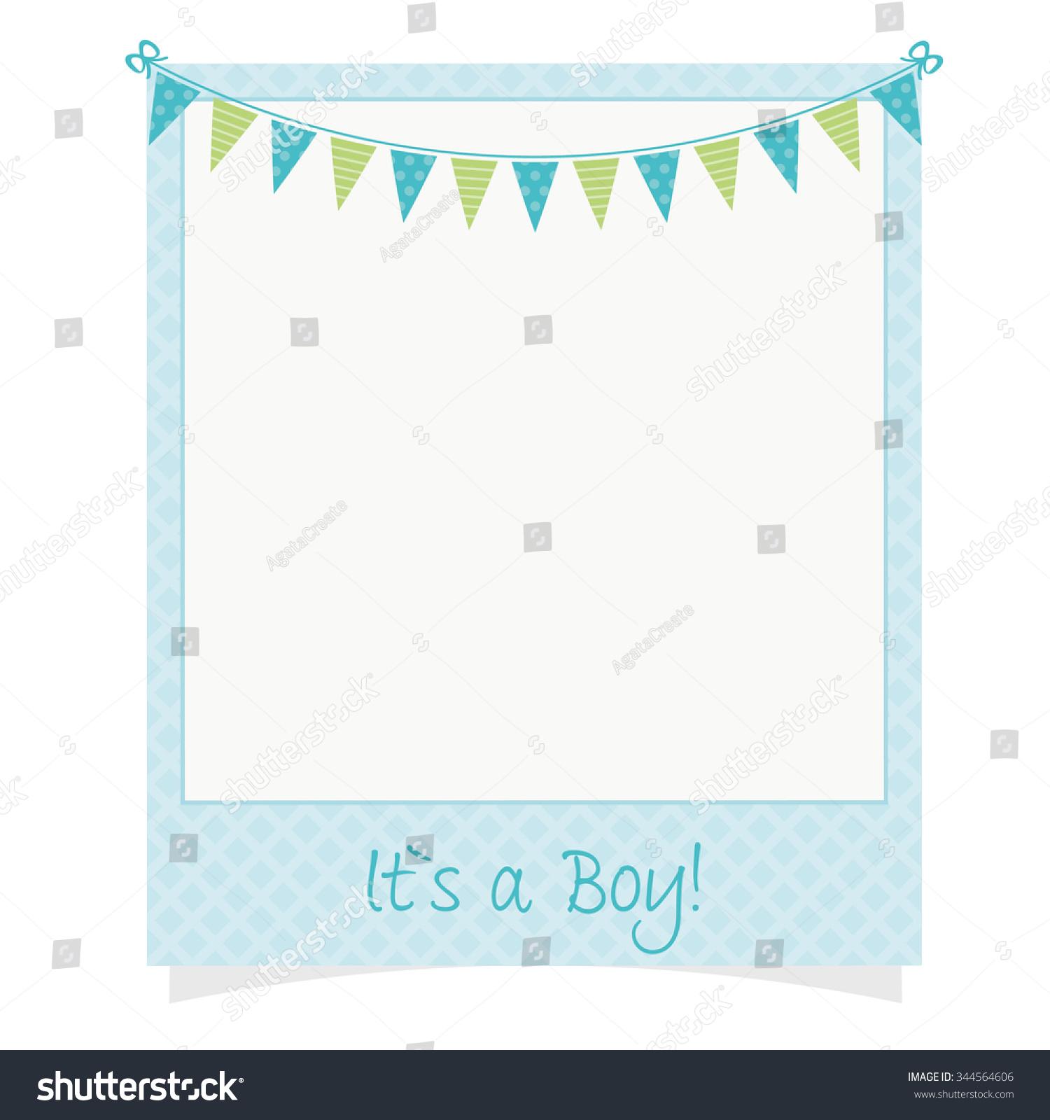 Baby Boy Photo Frame Stock Vector Royalty Free 344564606