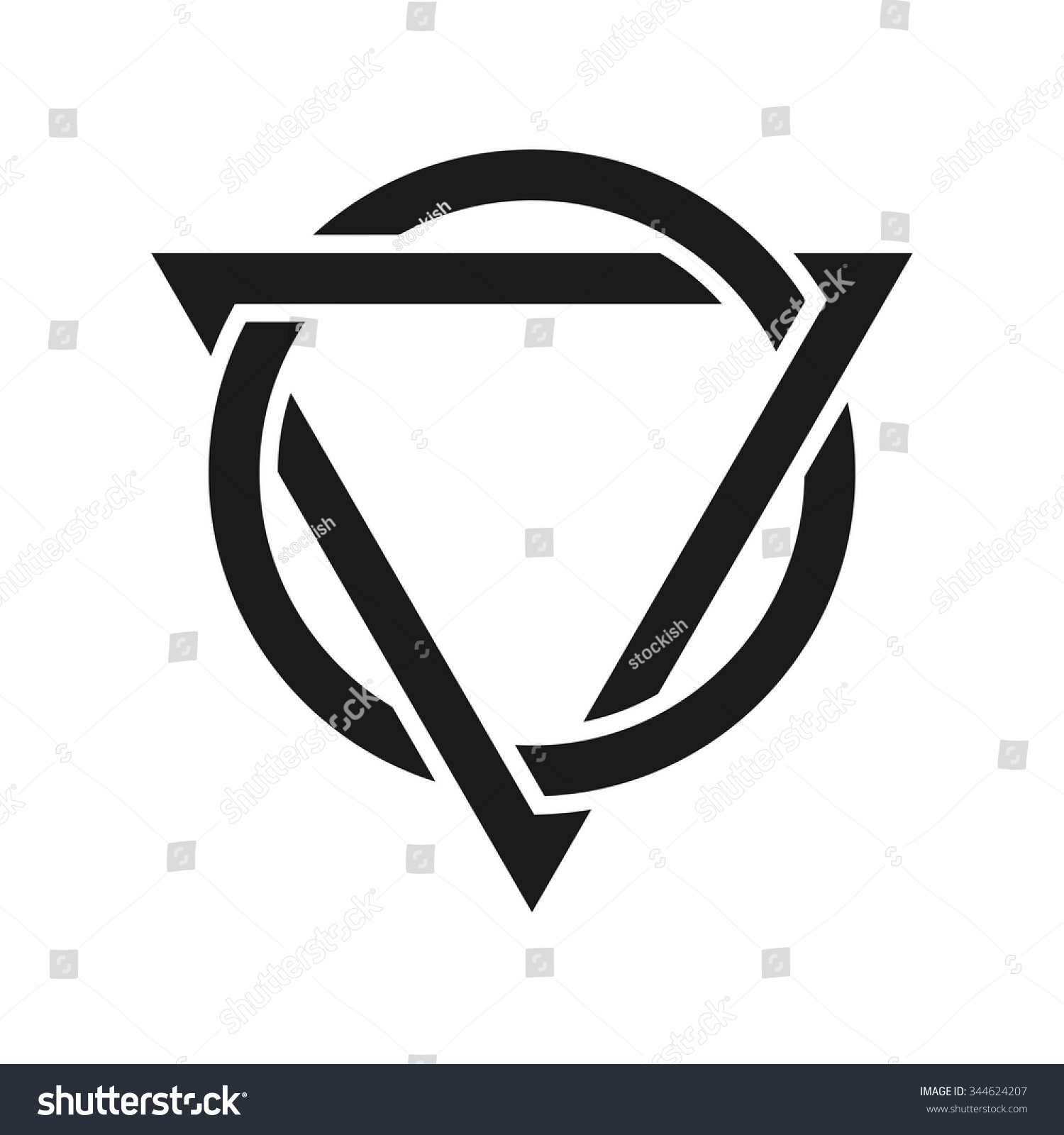 Triangle circle logo vector stock vector 344624207 shutterstock triangle and circle logo vector biocorpaavc Images