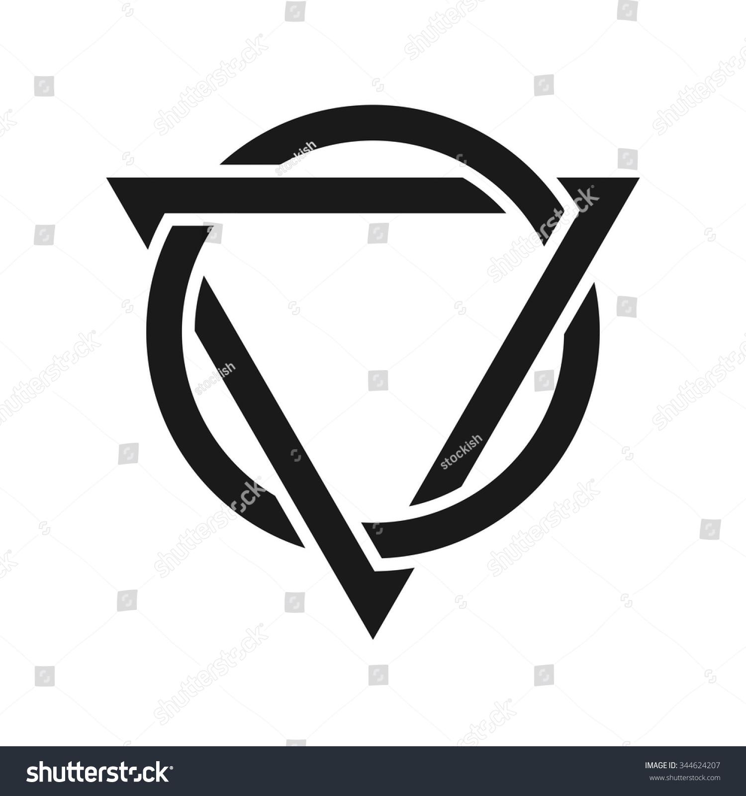 Triangle circle symbol images symbol and sign ideas triangle circle logo vector immagine vettoriale stock 344624207 triangle and circle logo vector buycottarizona buycottarizona