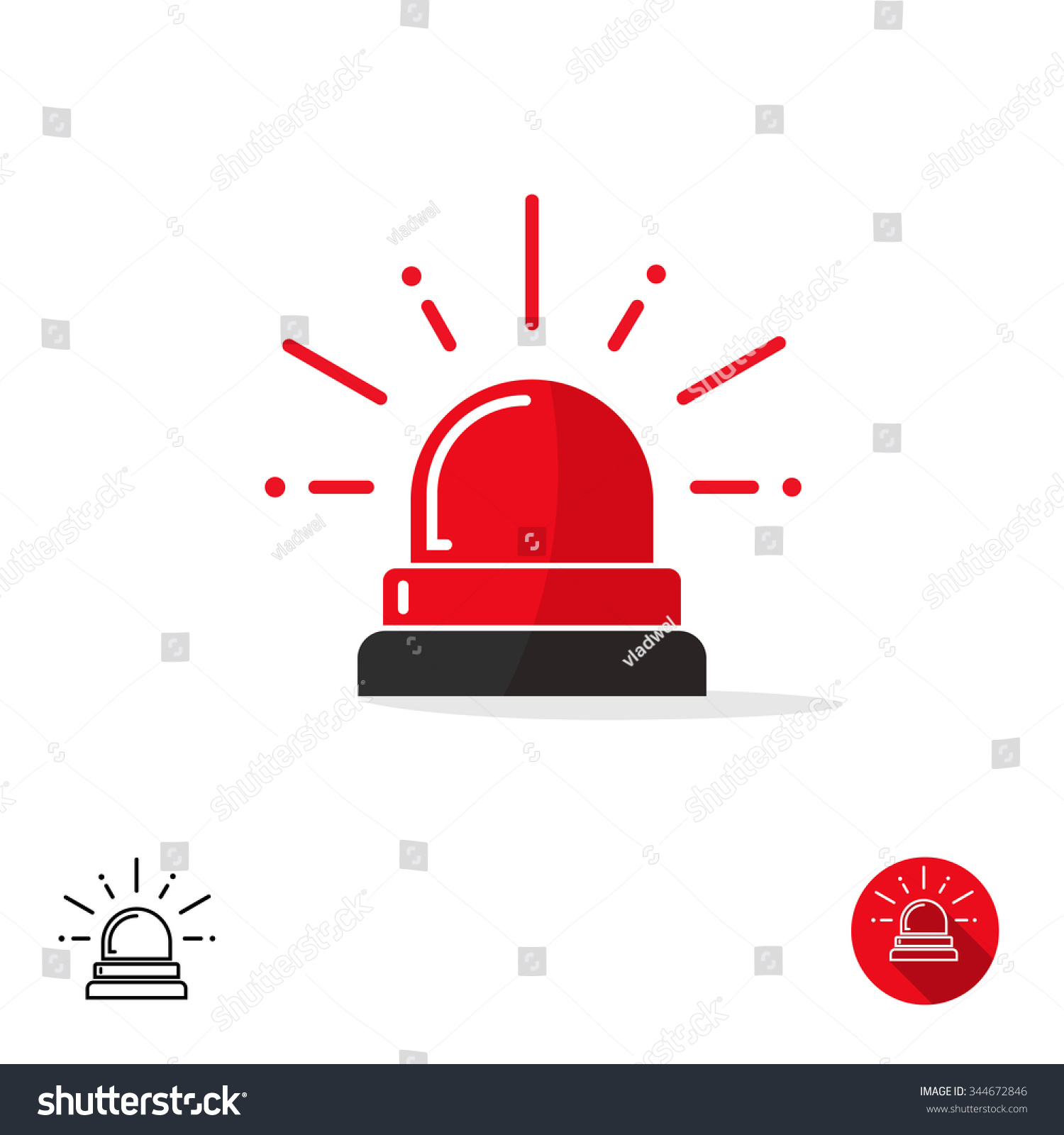 Special police flasher light emergency department stock illustration special police flasher light emergency department ambulance accident tow snow removal logo sign symbol police buycottarizona Images