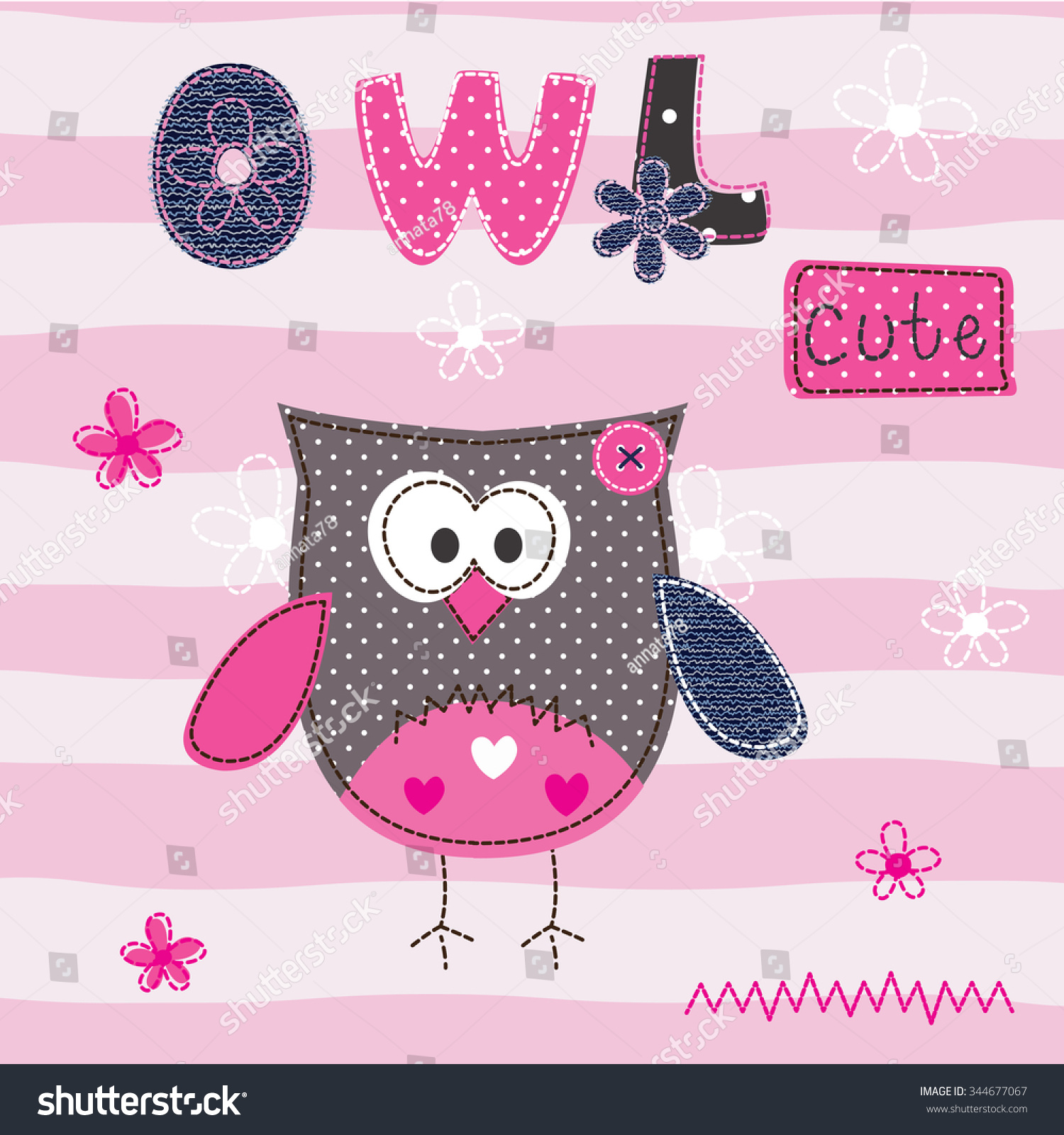 Shirt design card - Baby Background With Cute Owl For T Shirt Design Baby Shower Greeting Card
